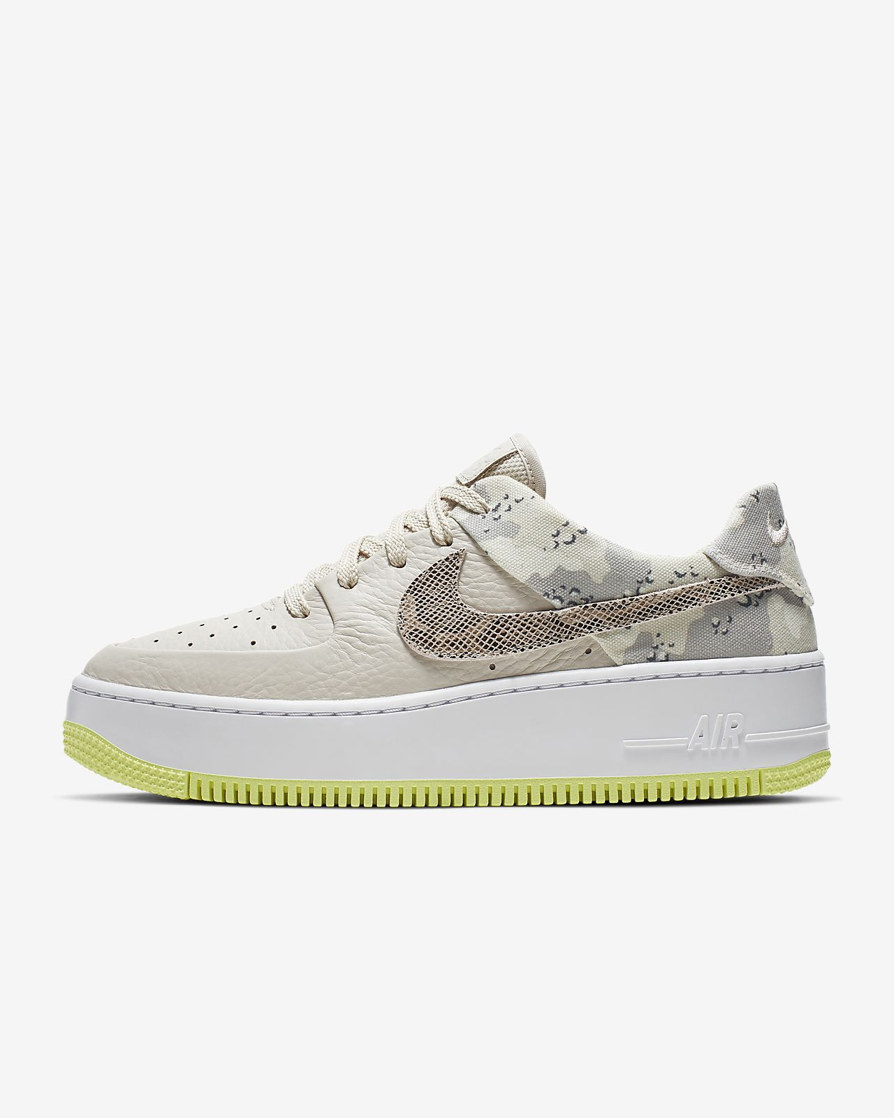 Nike Air Force 1 Sage Low Premium Camo Damesschoen