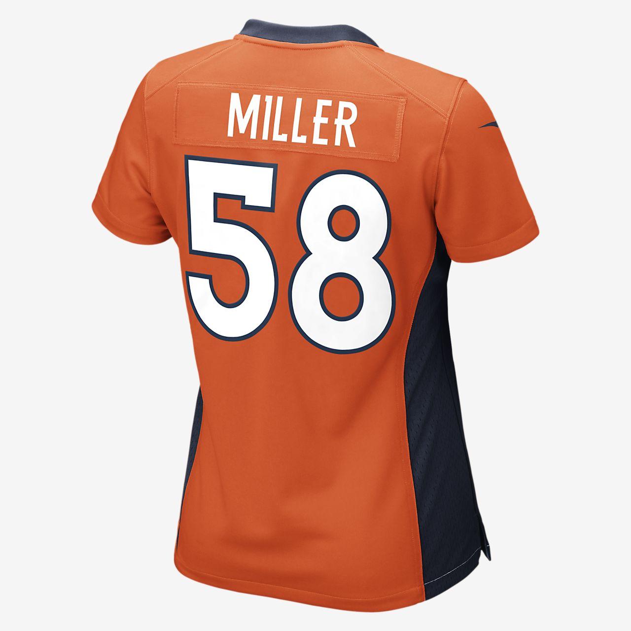 f25ed3a8 NFL Denver Broncos (Von Miller) Women's Game Football Jersey