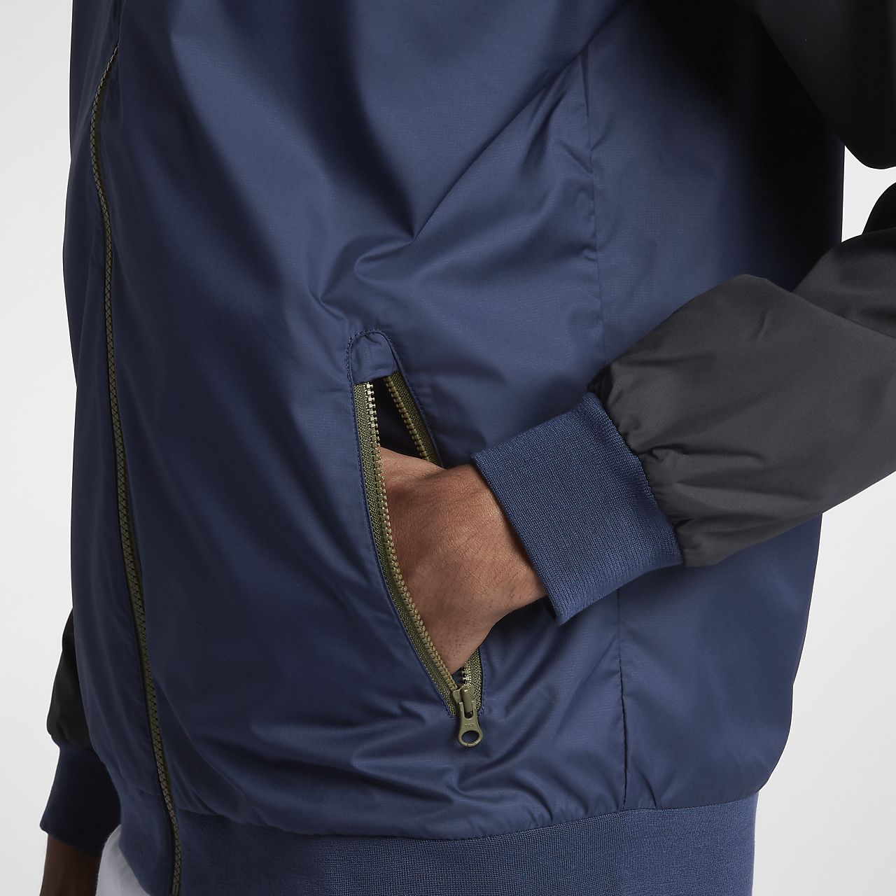 Nike USA Windrunner Jacket Mens Midnight NavyWhite