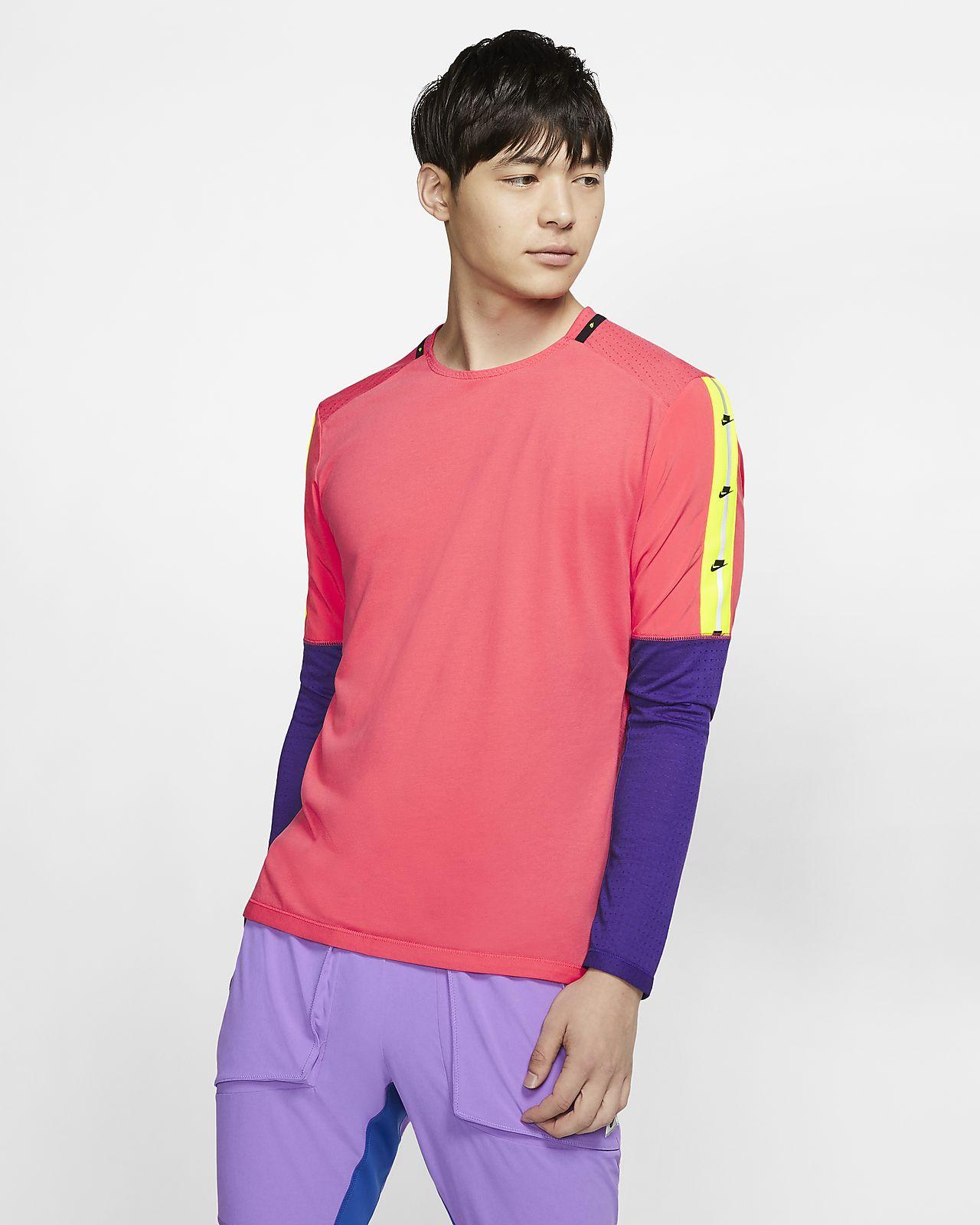 Camisola de running de manga comprida Nike para homem