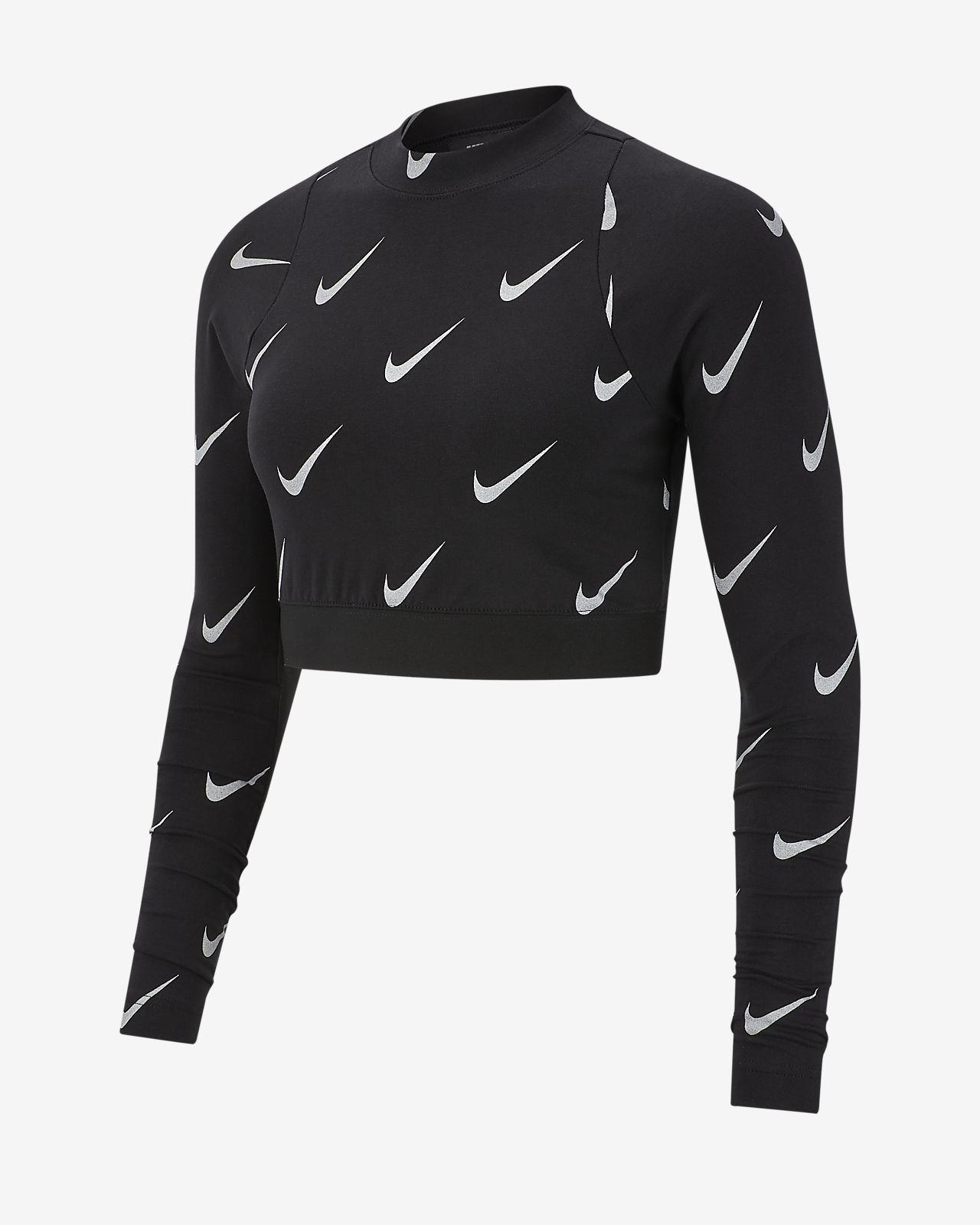 e4cb76f8a3 Nike Sportswear Women s Metallic Long-Sleeve Crop Top. Nike.com AU