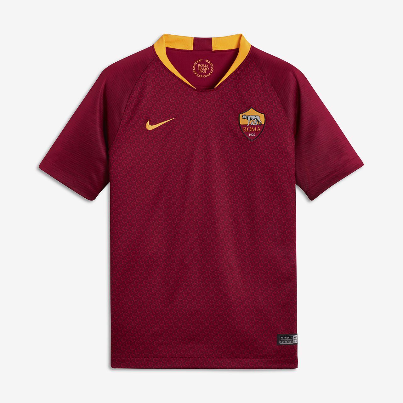 a8b2696be42 2018 19 A.S. Roma Stadium Home Older Kids  Football Shirt. Nike.com DK