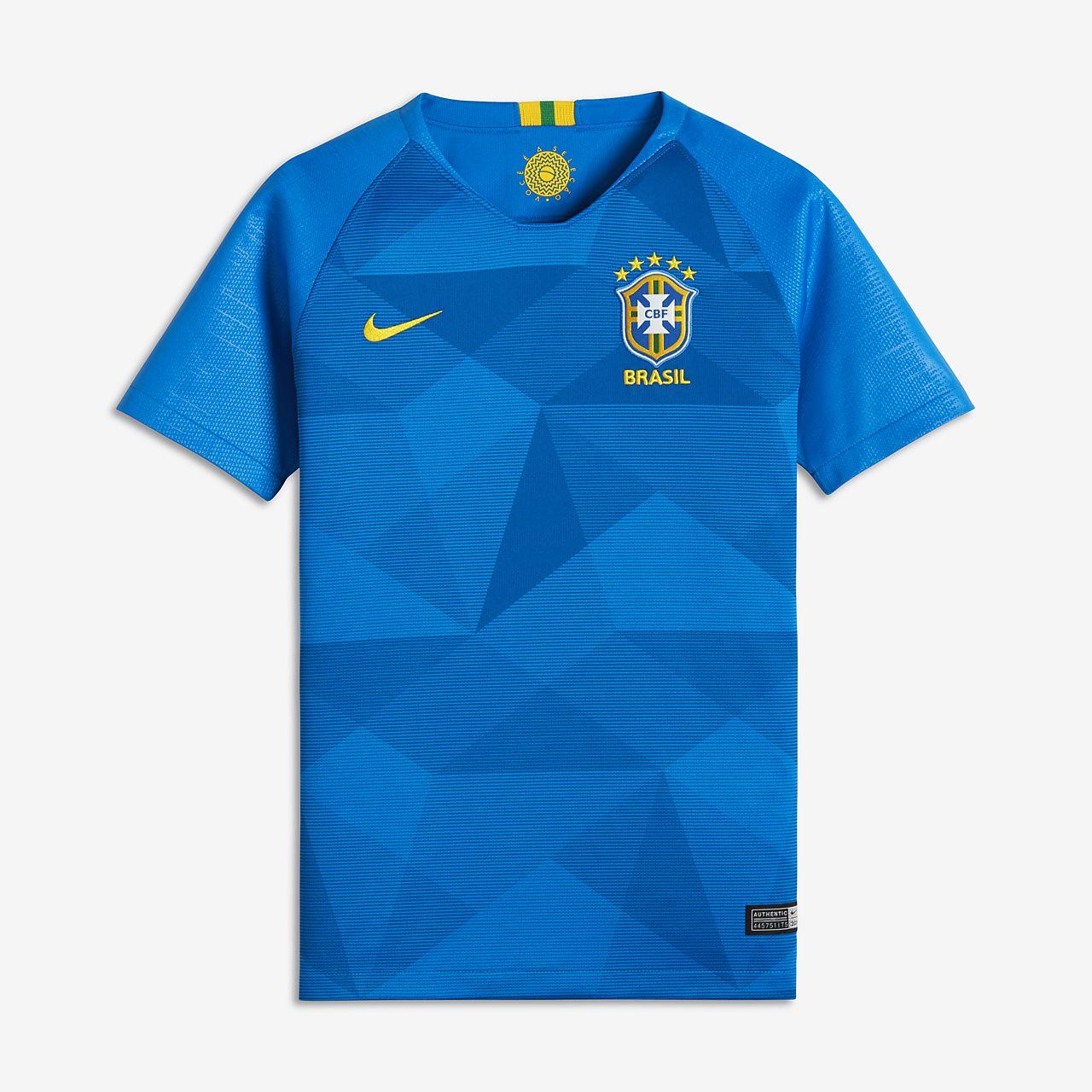 Maillot de football 2018 Brasil CBF Stadium Away pour Enfant plus âgé