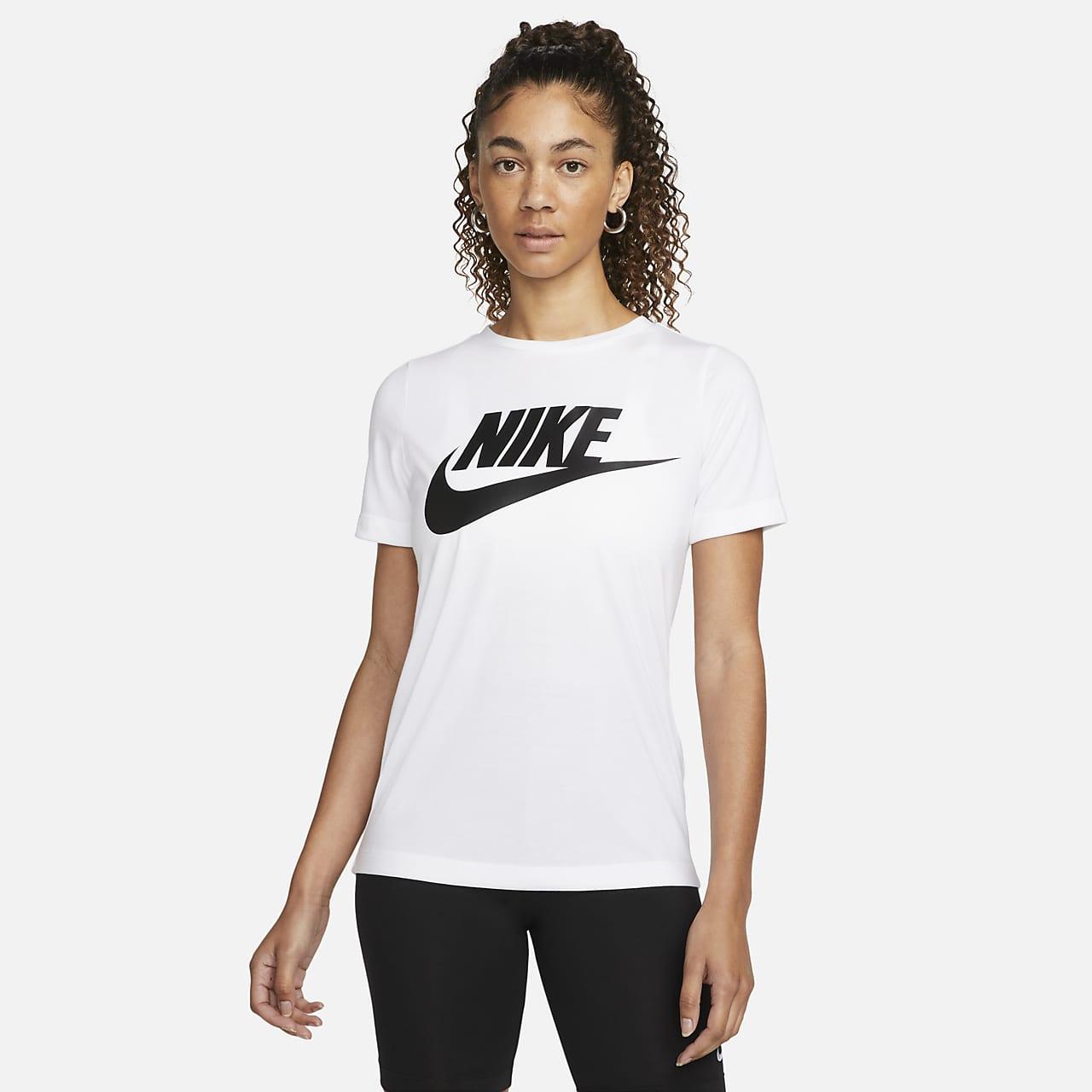 Haut à manches courtes avec logo Nike Sportswear Essential pour Femme 4eacec556c7