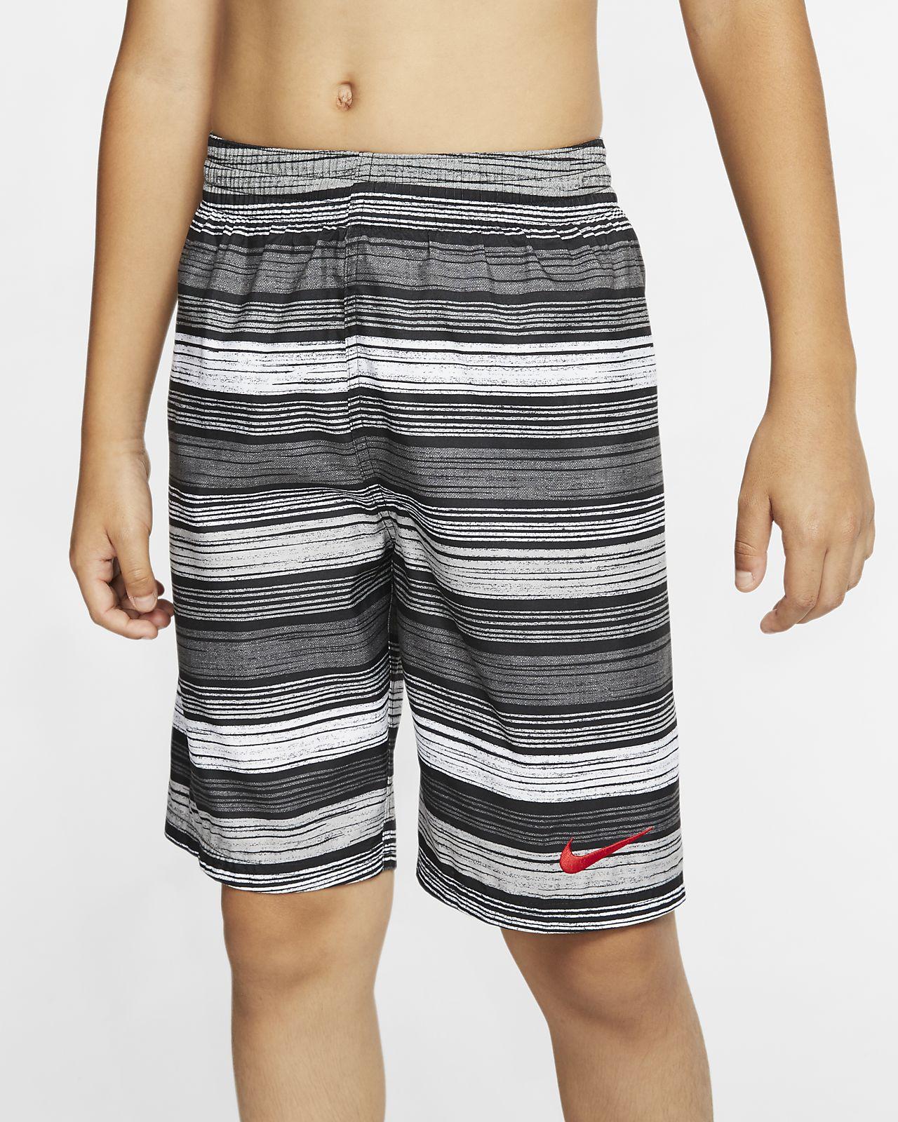 """Nike 6:1 Stripe Breaker Boy's 8"""" Swim Trunks"""