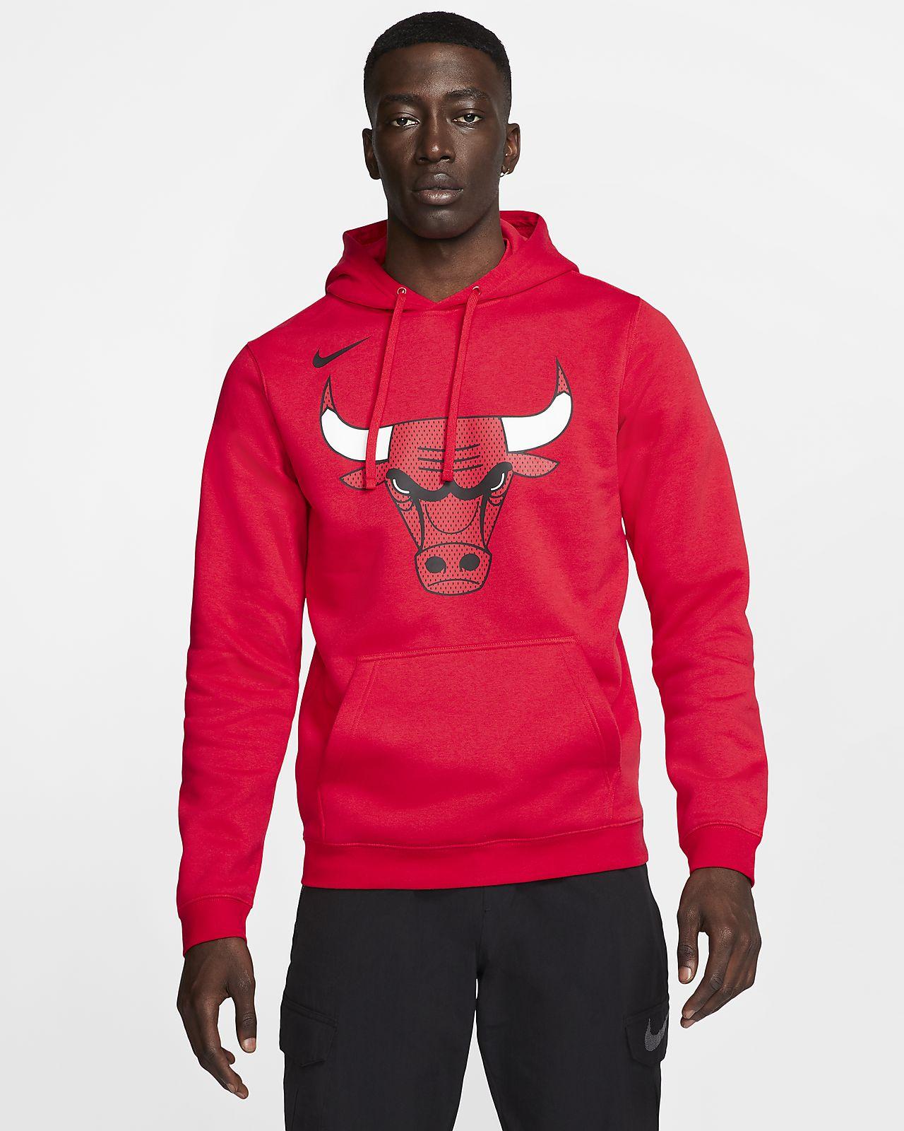 Chicago Bulls Nike NBA-s kapucnis férfipulóver