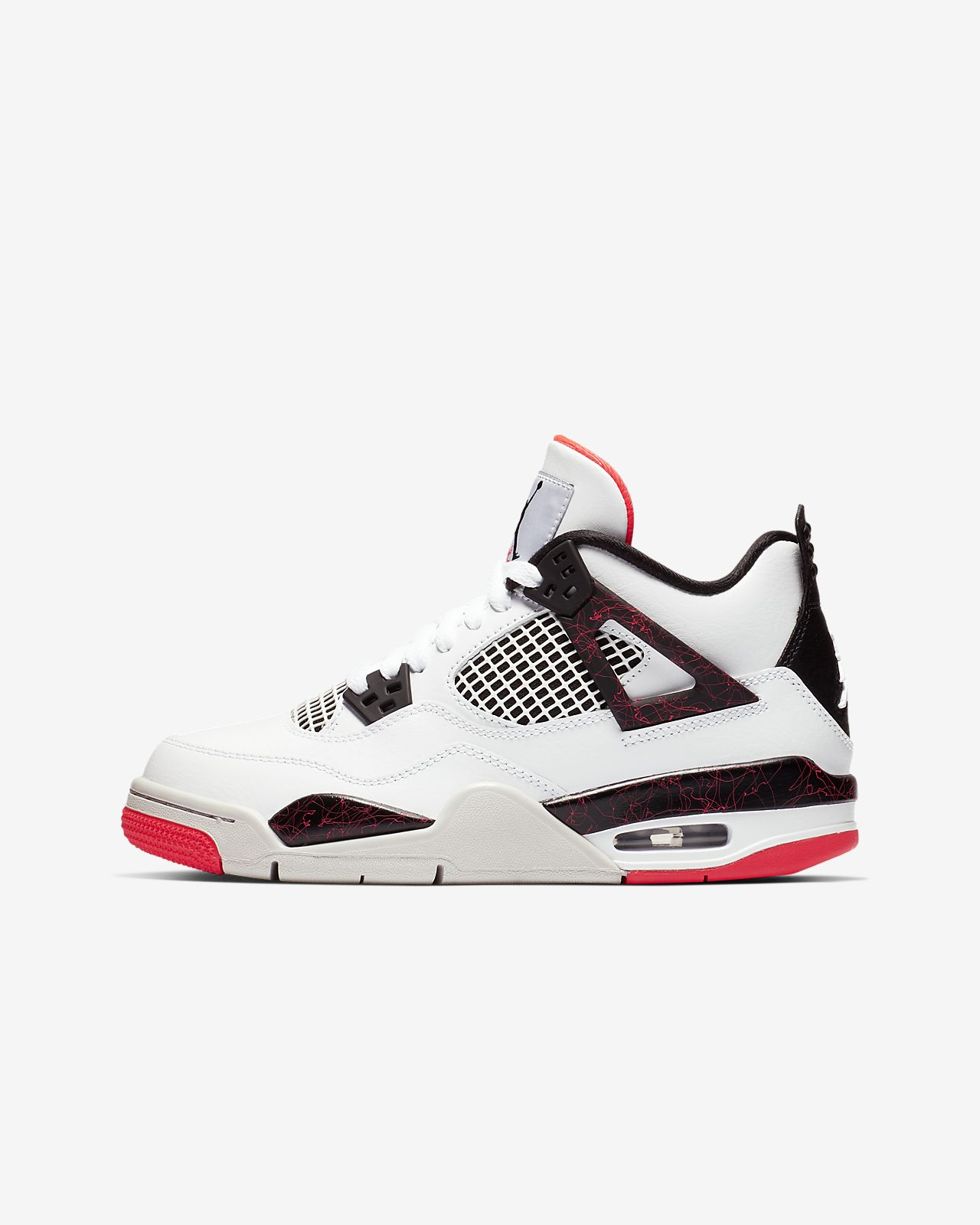 Air Jordan 4 Retro Big Kids  (Boys ) Shoe. Nike.com eb3c3c93d8b3