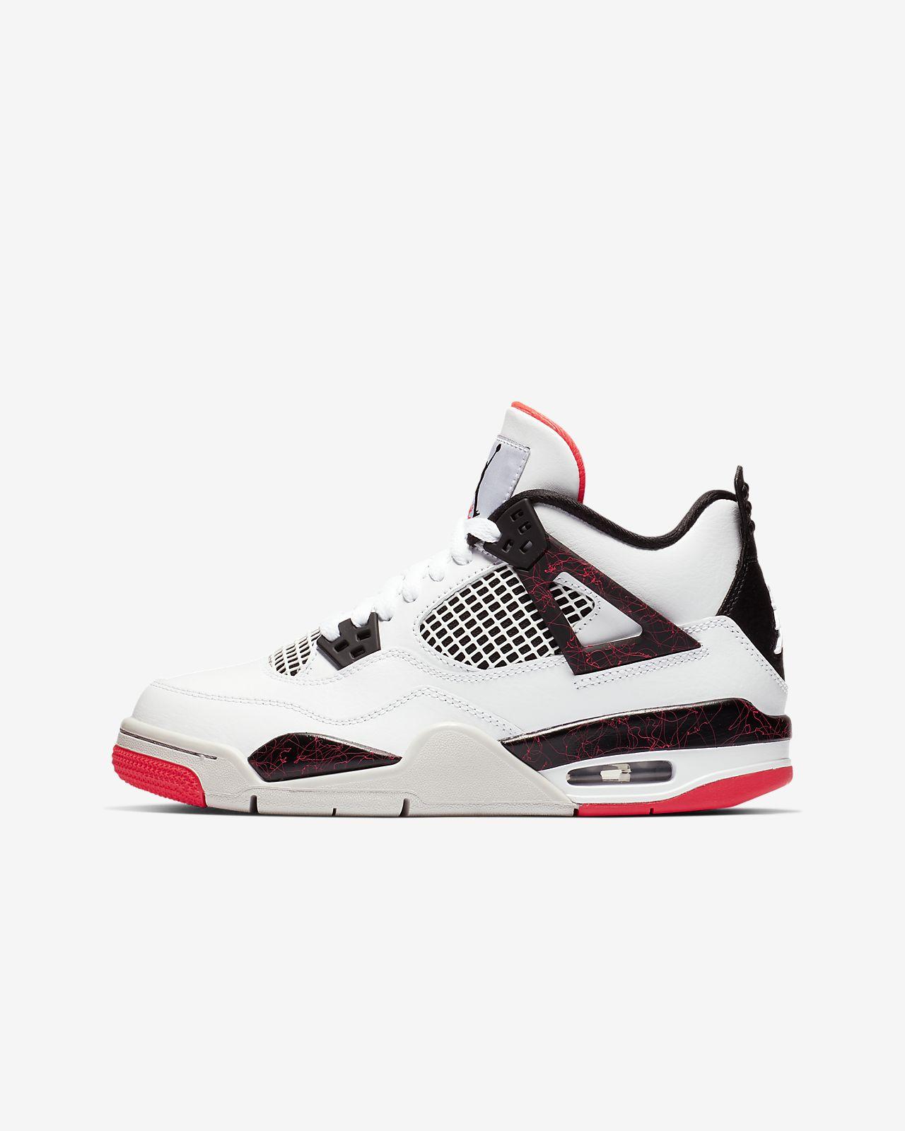Calzado para niños talla grande Air Jordan 4 Retro. Nike.com MX 2529dfc06c2f