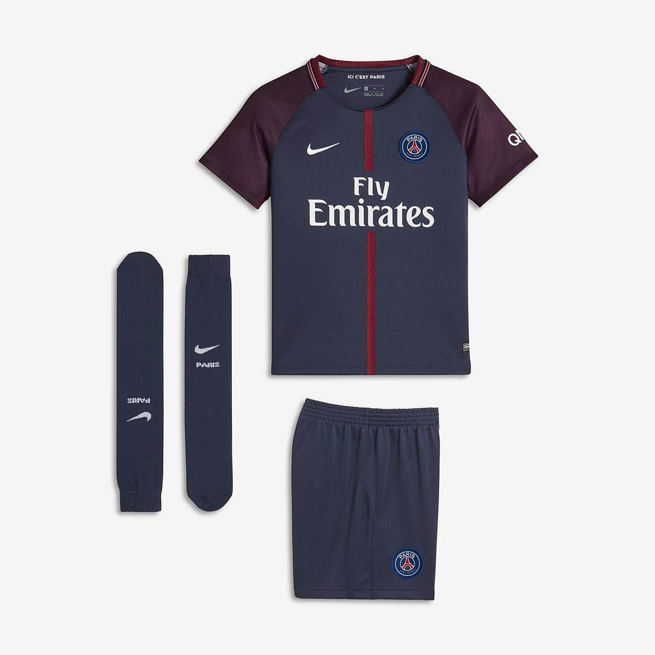 ... 2017/18 Paris Saint-Germain Stadium Home Little Kids' Soccer Kit