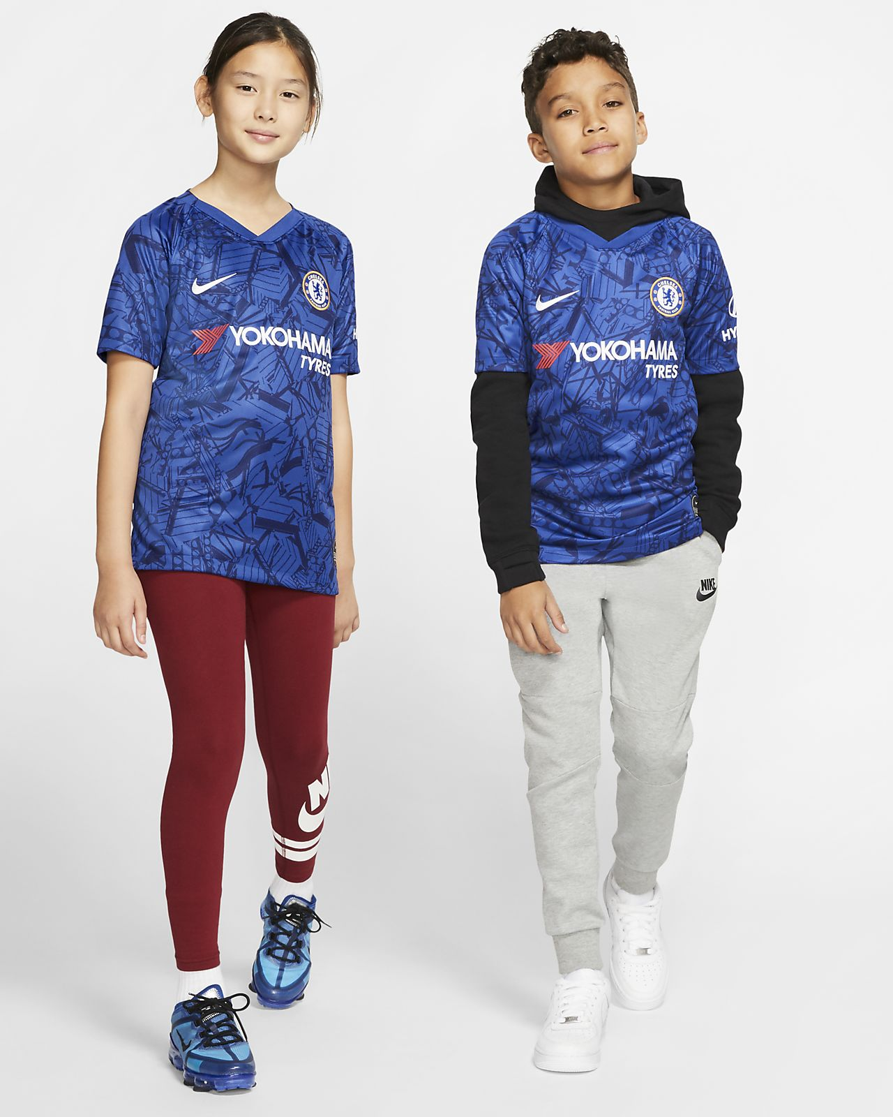 Chelsea FC 2019/20 Stadium Home Older Kids' Football Shirt