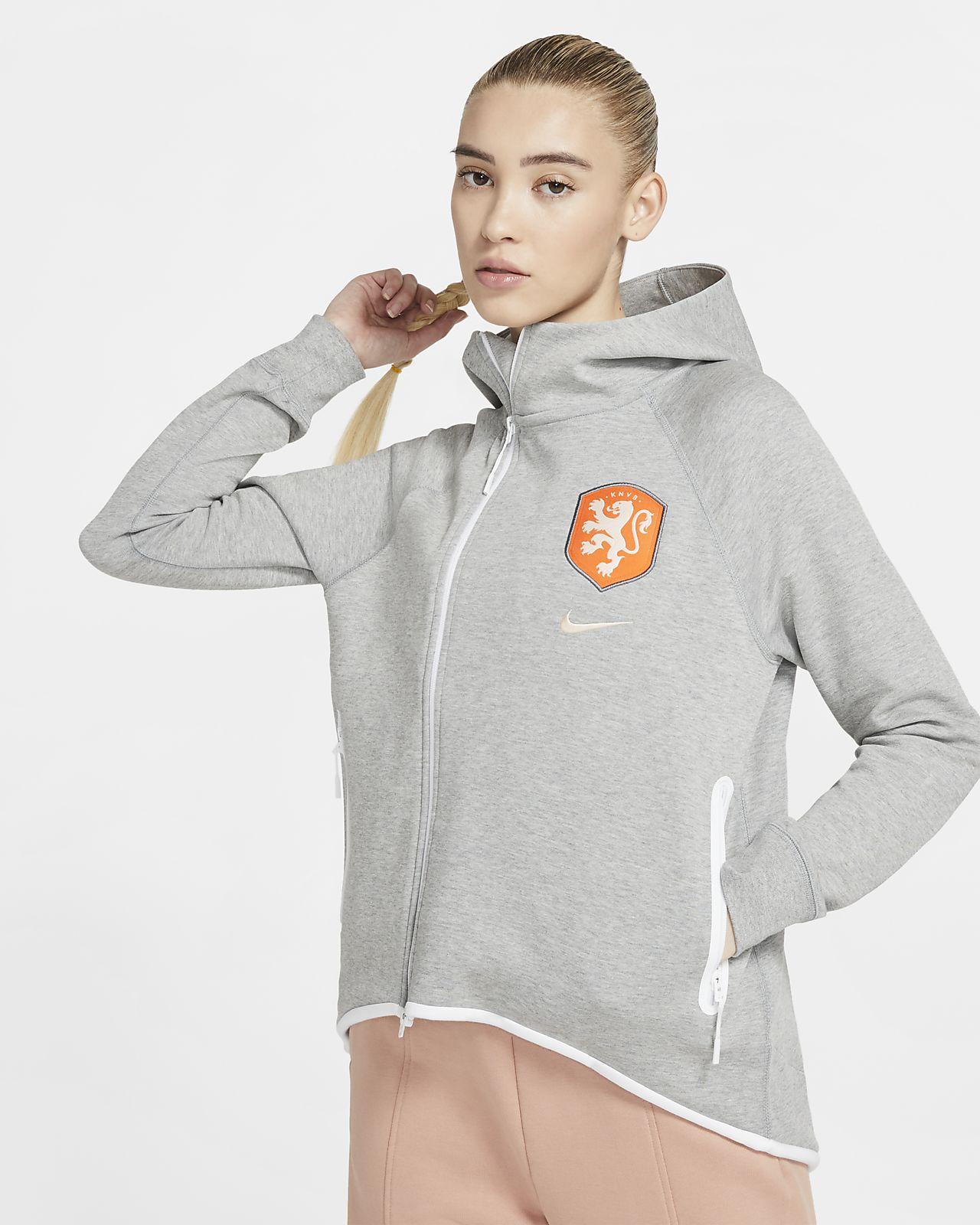 Niederlande Tech Fleece Damen-Fußballponcho