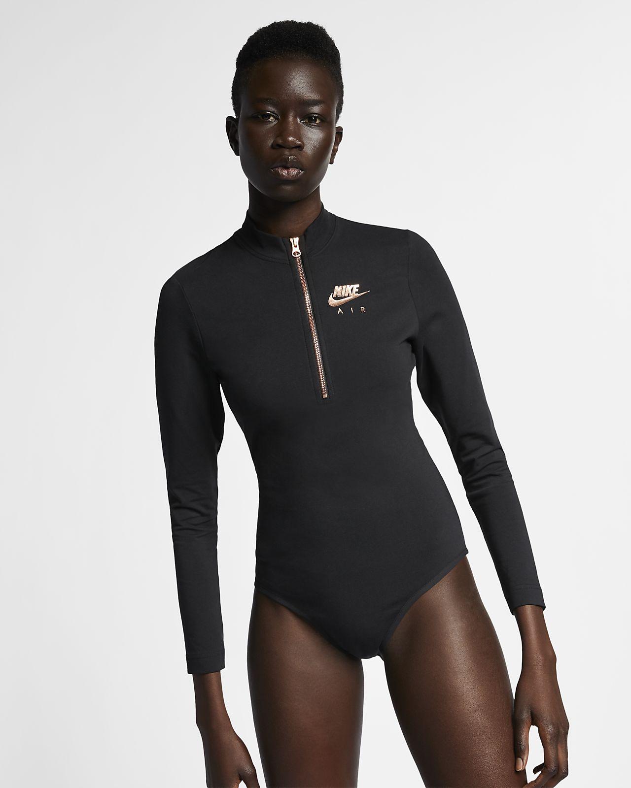 Nike Air Women's Long-Sleeve Metallic Bodysuit