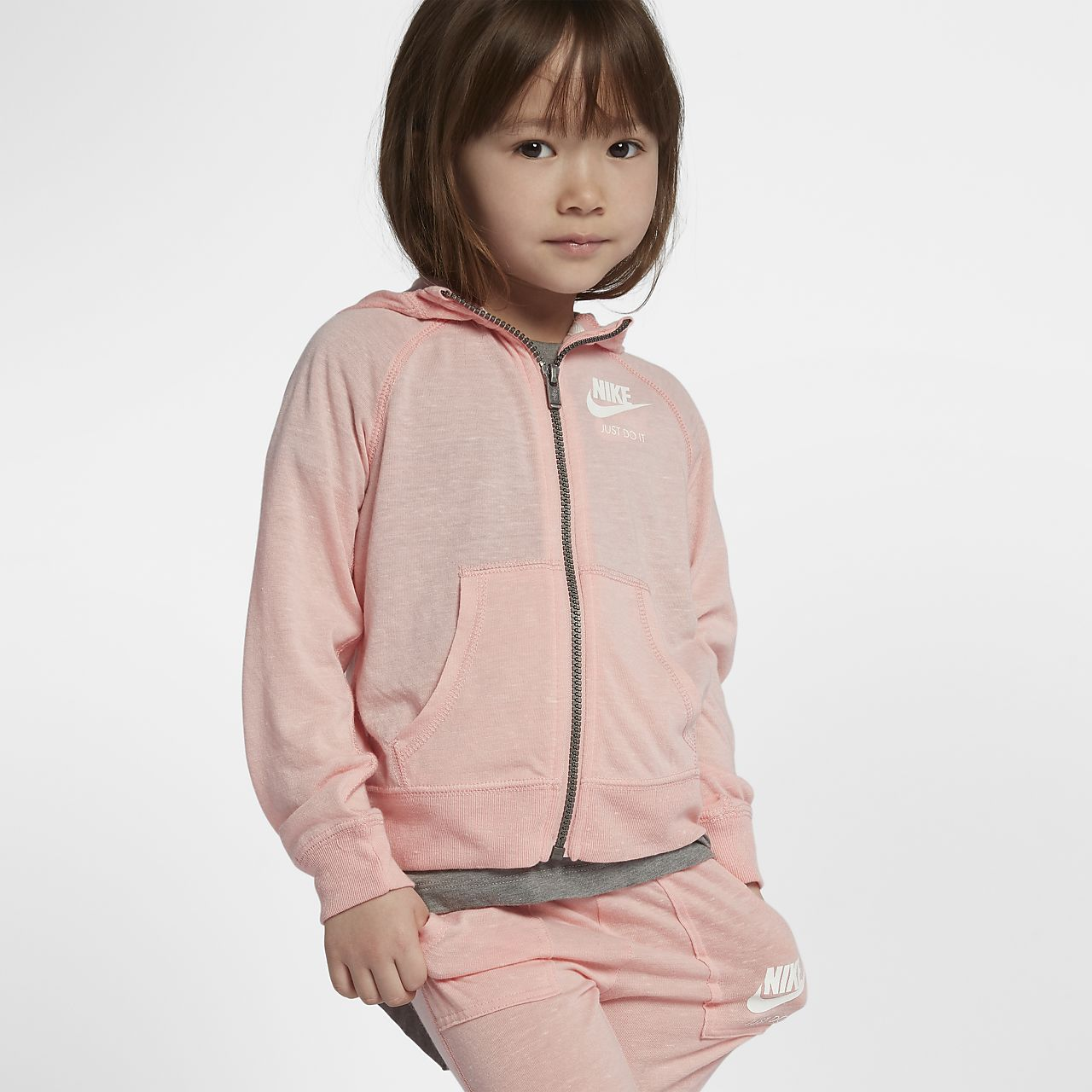 Nike Gym Vintage Toddler Girls Hoodie And Trousers Set