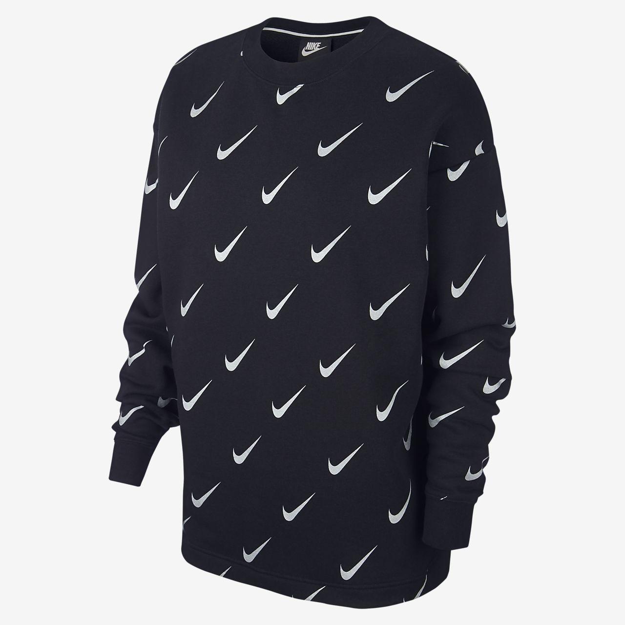 4e40007757b3 Nike Sportswear Rally Metallic-Rundhalsshirt mit Print für Damen ...
