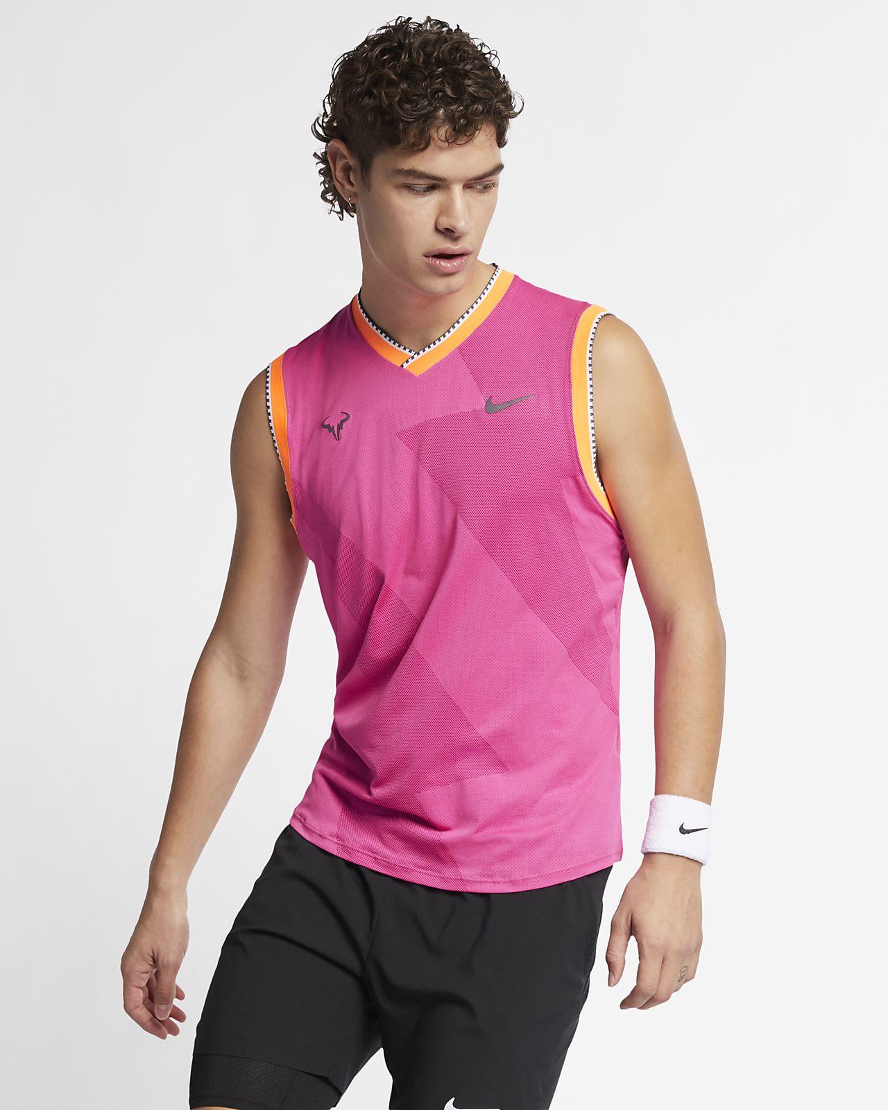 Męska koszulka bez rękawów do tenisa NikeCourt AeroReact Rafa