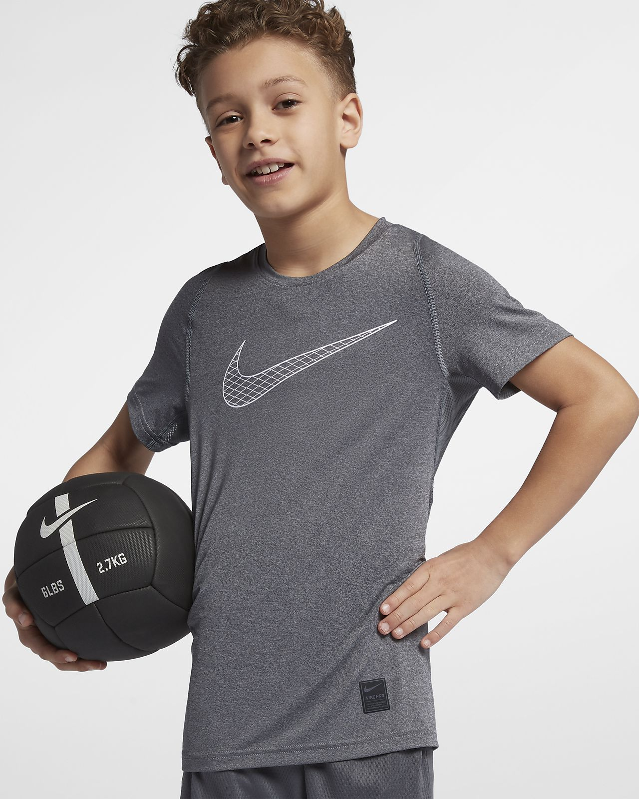 Kortärmad träningströja Nike Pro för killar