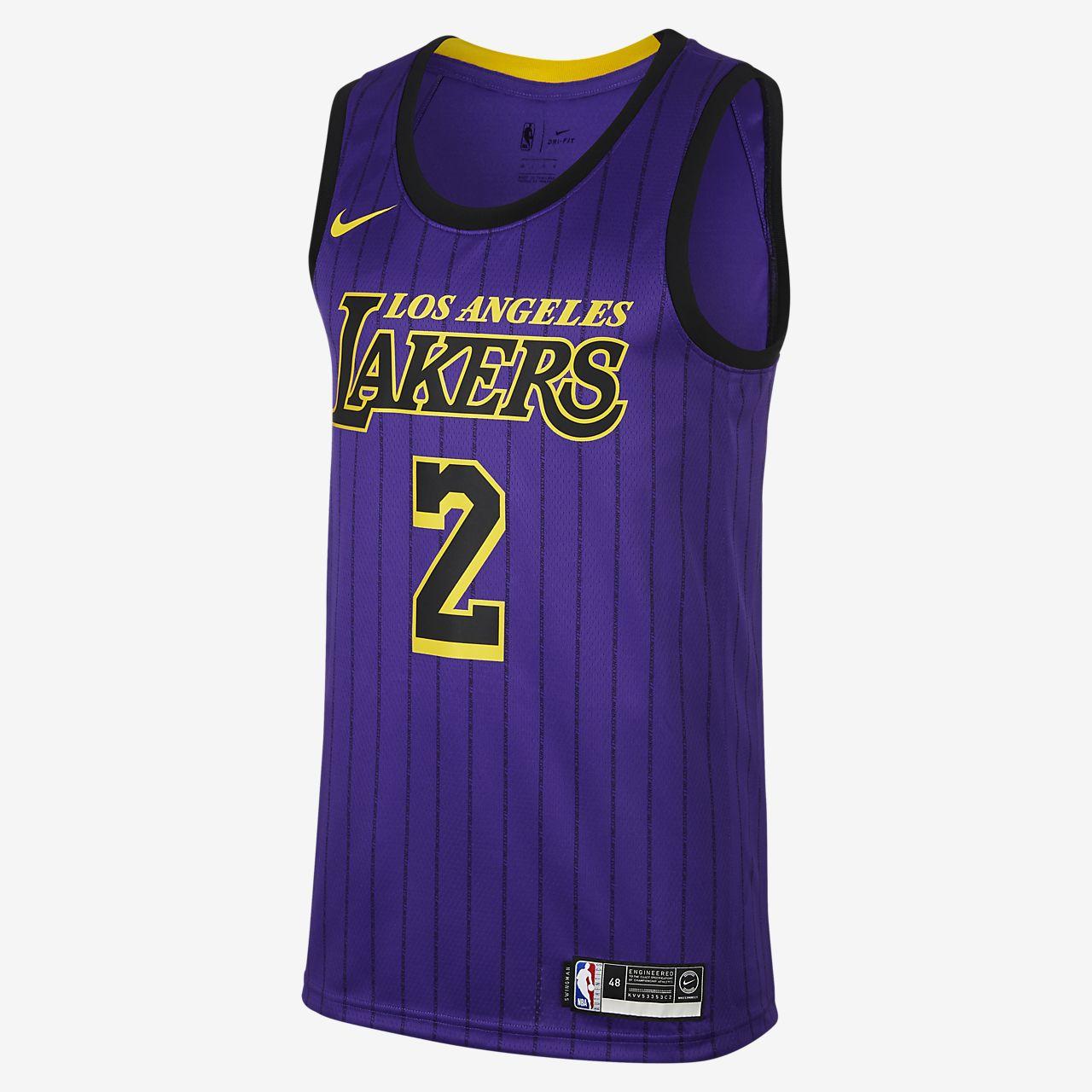 6f7433ac3 ... Lonzo Ball City Edition Swingman (Los Angeles Lakers) Camiseta Nike NBA  Connected - Hombre