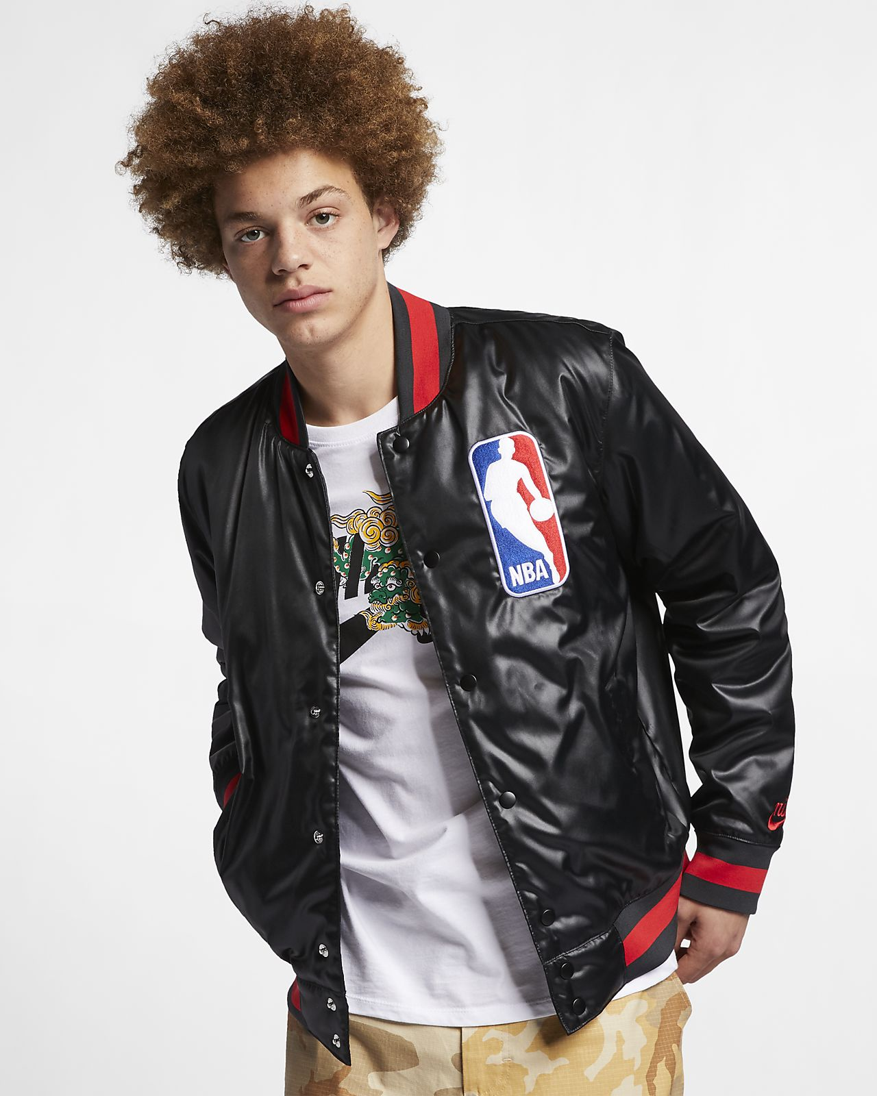 Blusão estilo Bomber Nike SB x NBA para homem