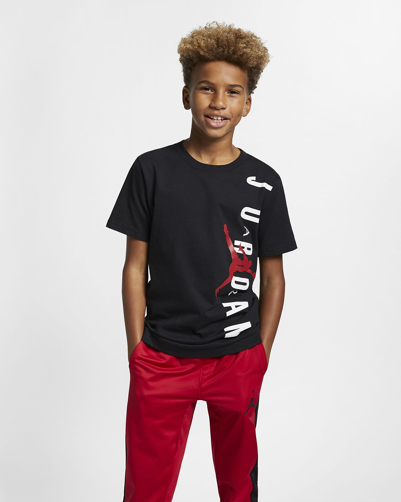 5e2f77b697f Jordan Jumpman Air Big Kids' (Boys') T-Shirt. Nike.com