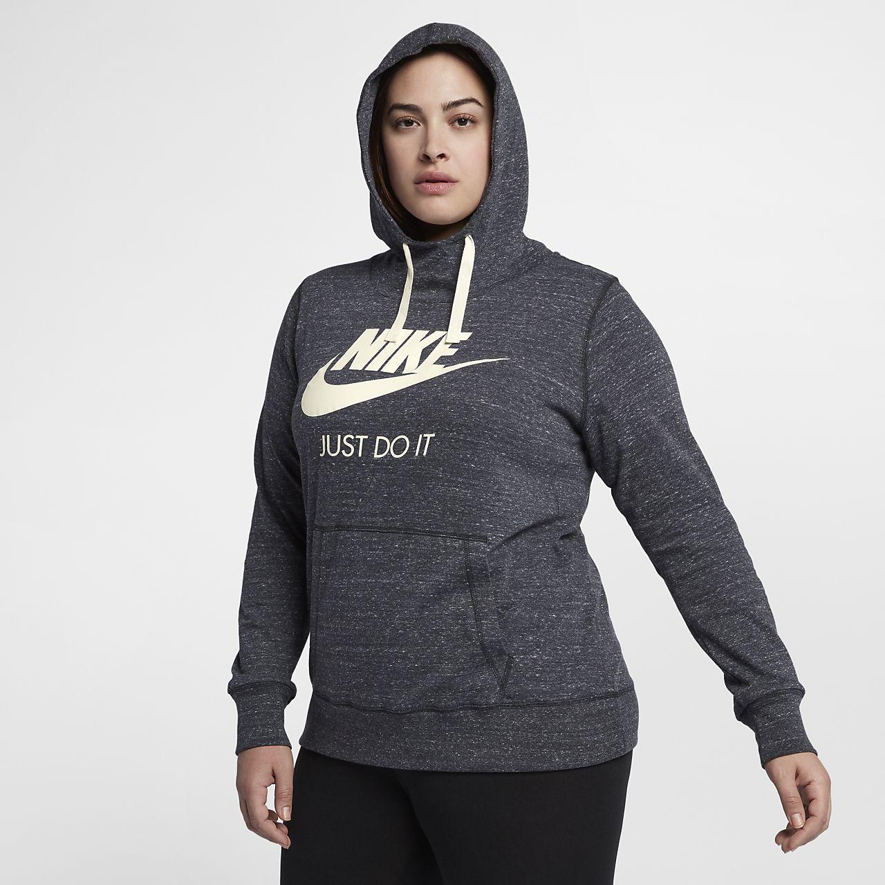 b121eb5e ... Nike Sportswear Gym Vintage hettegenser for dame (store størrelser)