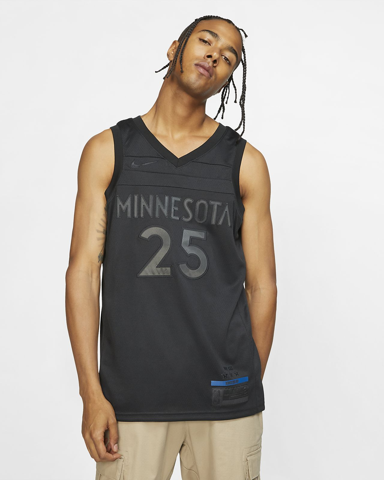 明尼苏达森林狼队 (Derrick Rose) MVP Swingman Nike NBA Connected Jersey 男子球衣