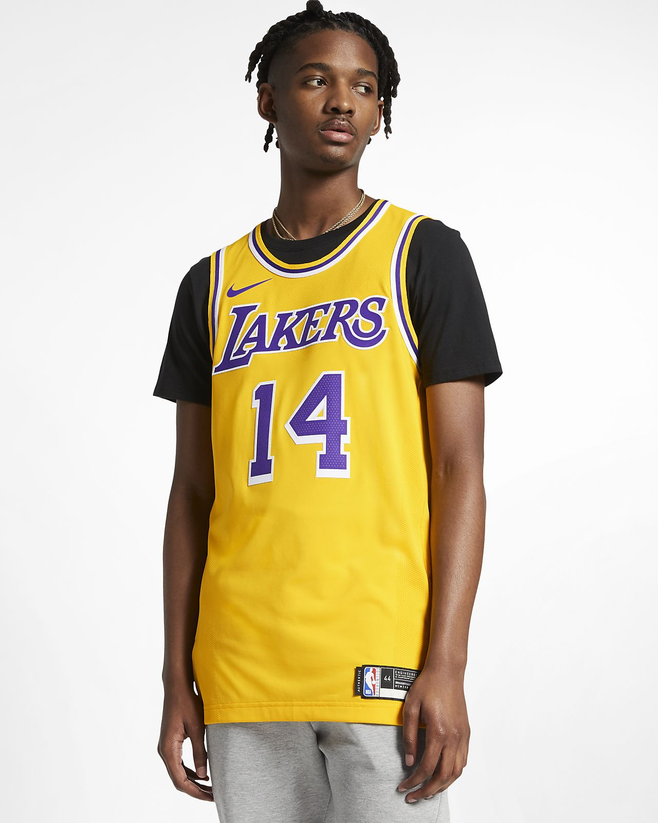 b8a9243a3e4c ... Brandon Ingram Icon Edition Authentic (Los Angeles Lakers) Men s Nike  NBA Connected Jersey