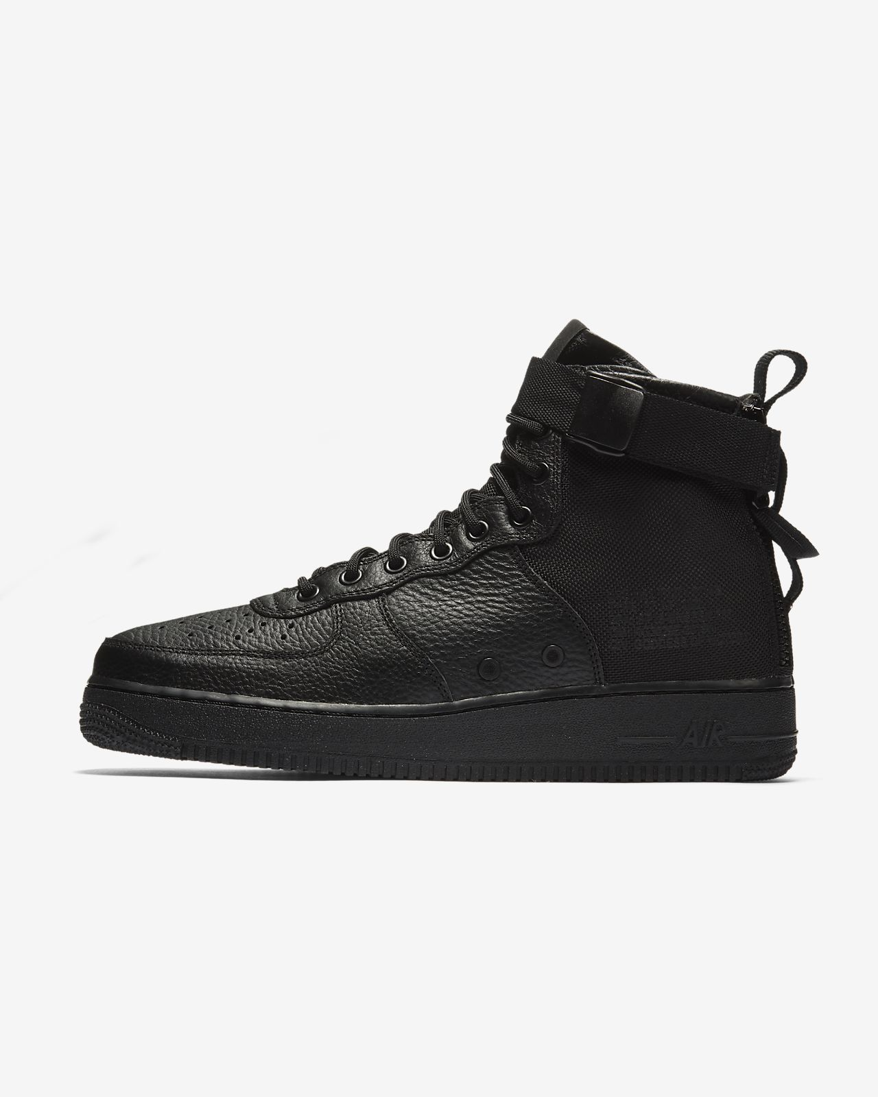 Nike SF Air Force 1 SE Premium Women's Lifestyle Shoes Black/Grey wX3410H