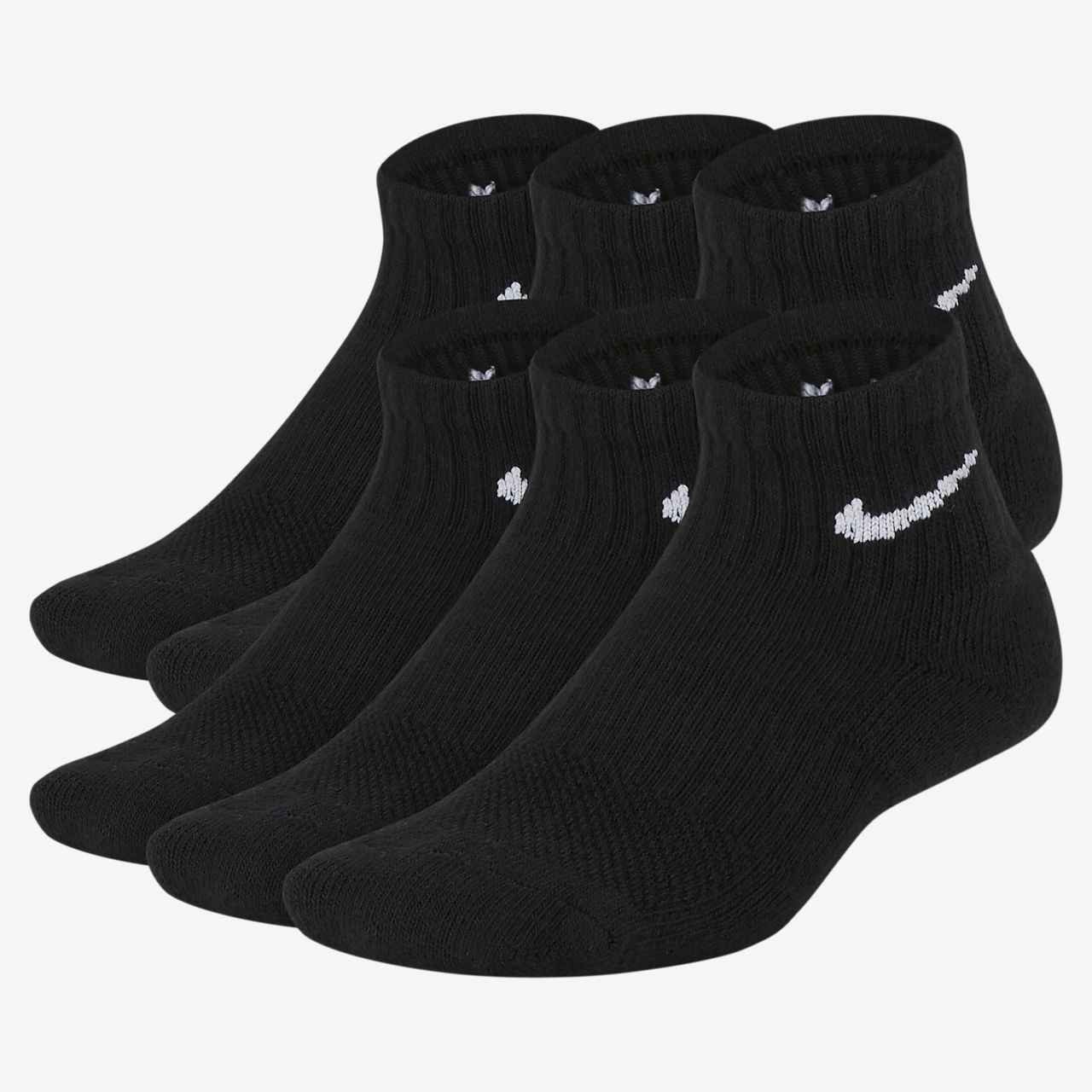 Nike Performance Cushioned Quarter Kids' Training Socks (6 Pair)