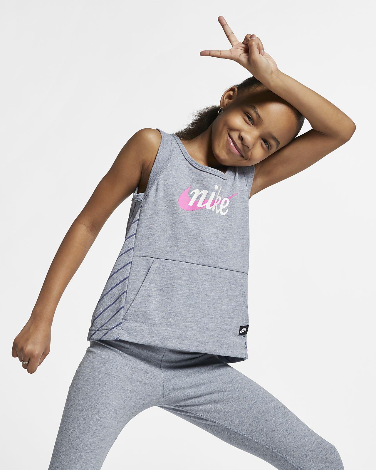 Koszulka bez rękawów dla dużych dzieci (dziewcząt) Nike Sportswear