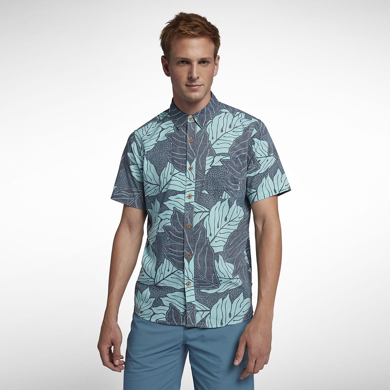 Hurley Sig Zane Ululoa Men's Woven Short-Sleeve Top