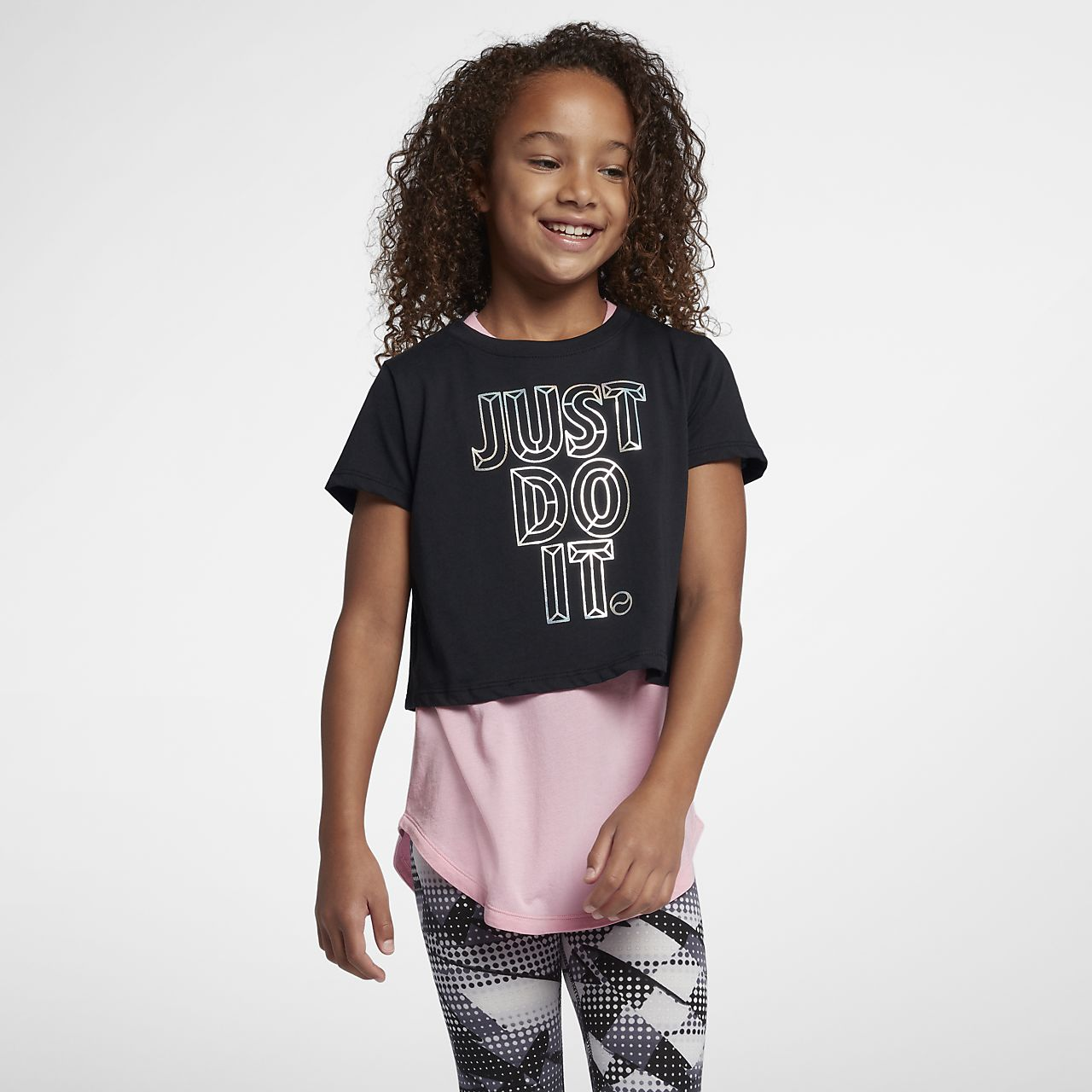 Nike Sportswear Older Kids' (Girls') JDI Cropped T-Shirt