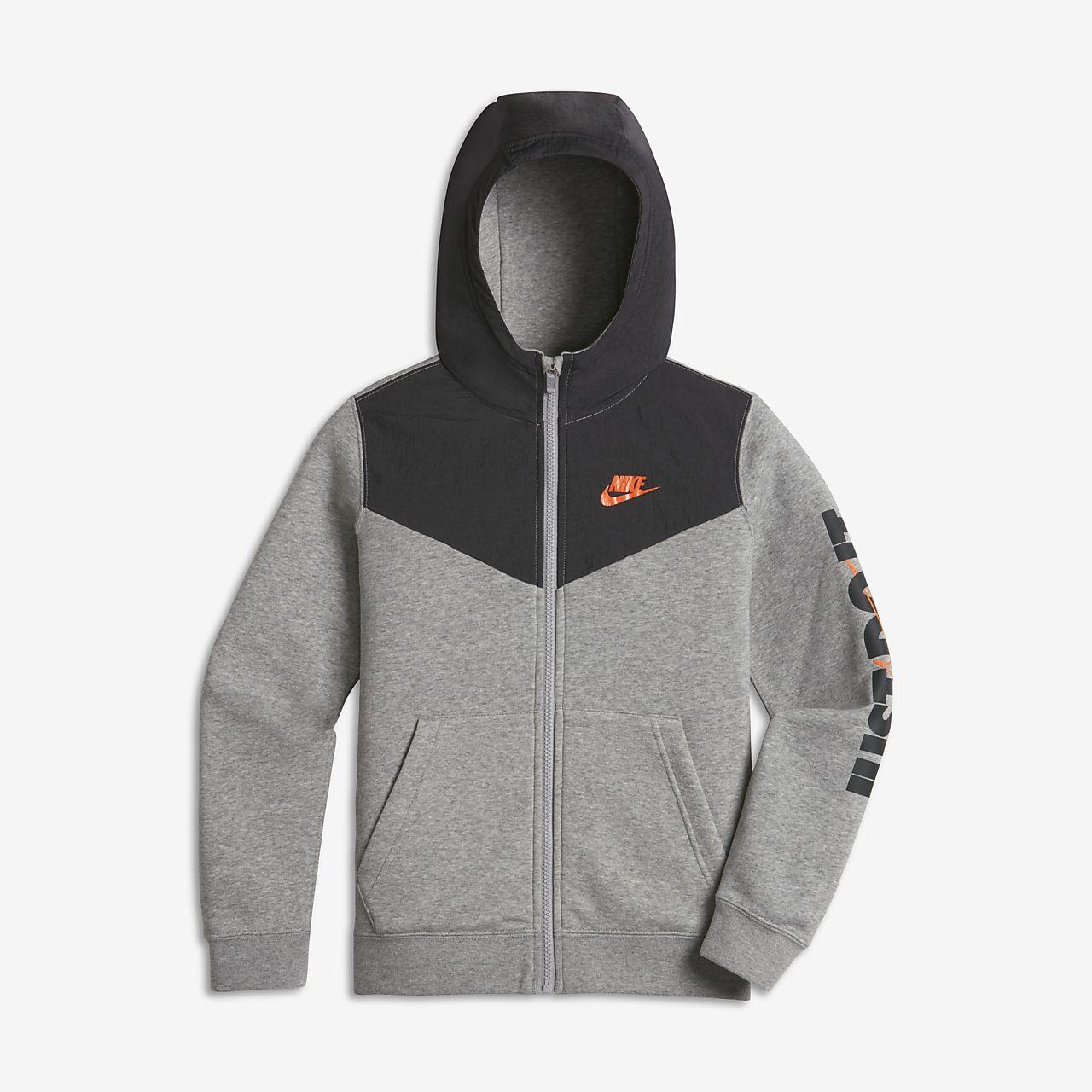 Capuche Nike Sportswear Entièrement Plus Pour Sweat Garçon Zippé À zwxRzqH