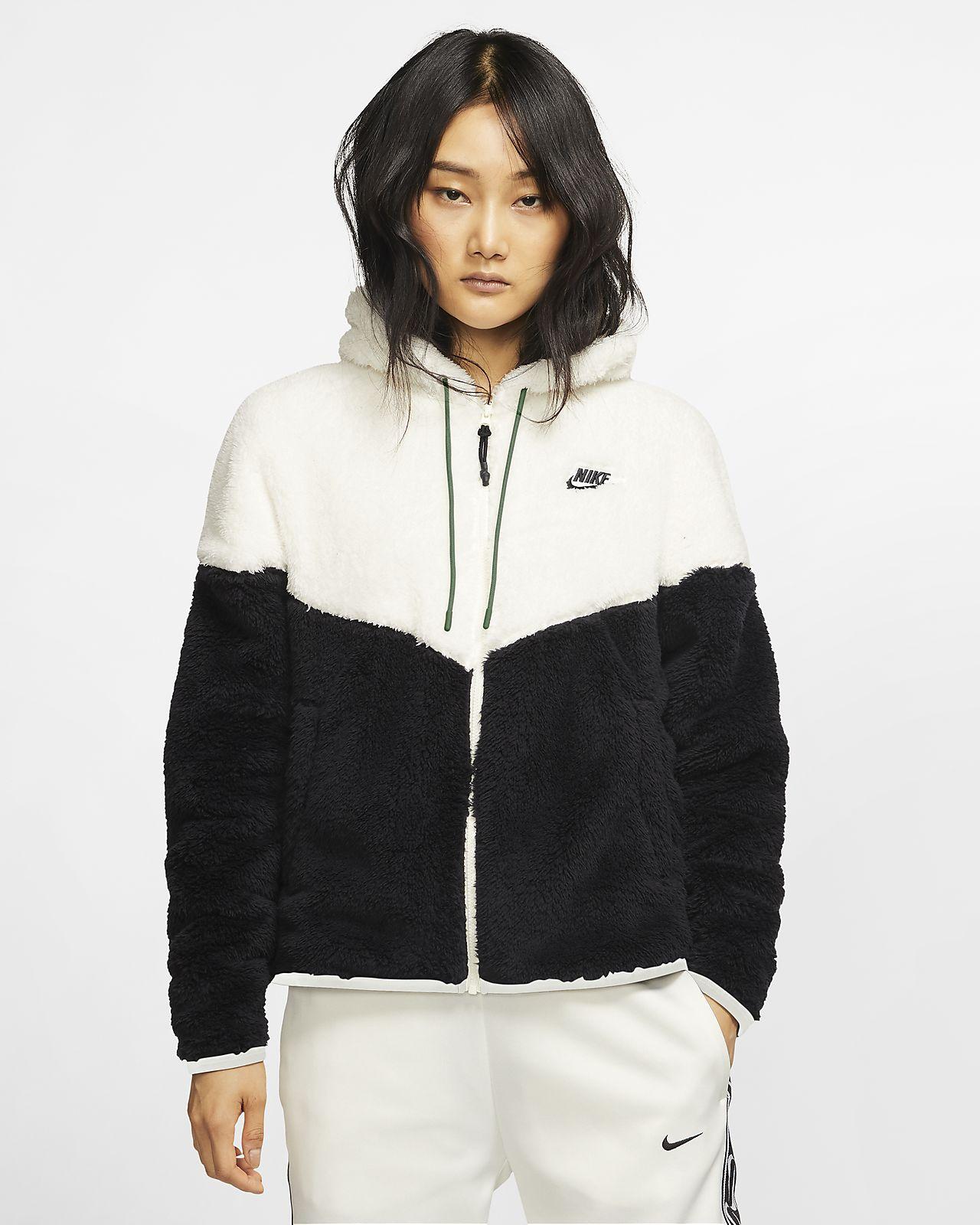 Γυναικείο τζάκετ από ύφασμα Sherpa Nike Sportswear Windrunner