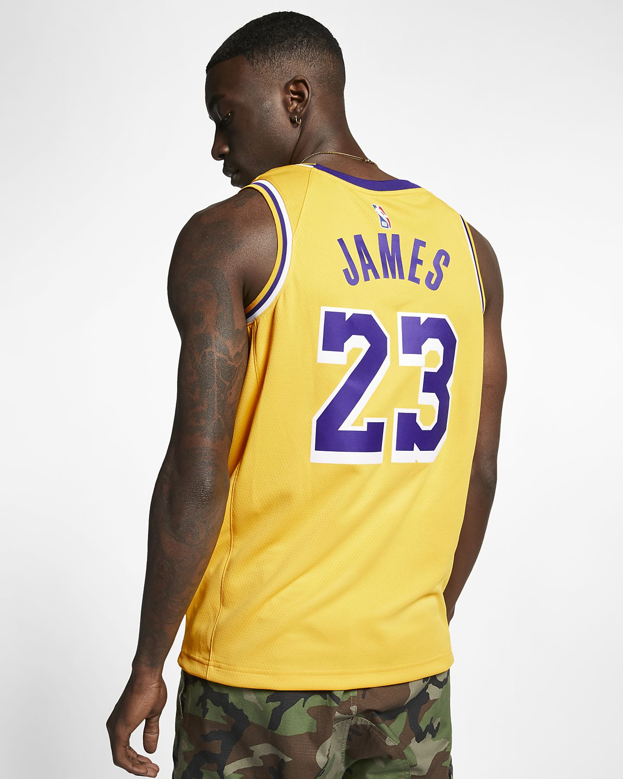 save off 541e4 71867 LeBron James Icon Edition Swingman (Los Angeles Lakers) Men's Nike NBA  Connected Jersey