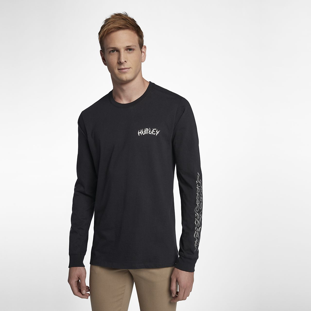 Hurley stay cool men 39 s long sleeve t shirt for Cool long sleeve t shirts for men