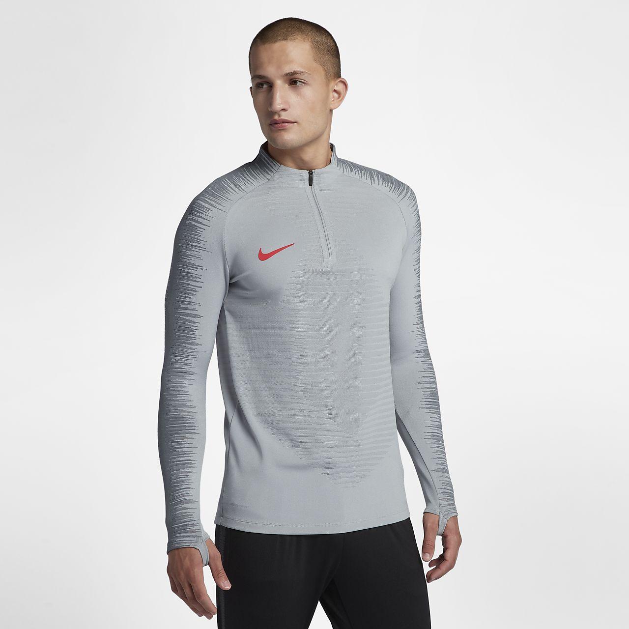 Top de fútbol de manga larga para hombre Nike VaporKnit Strike