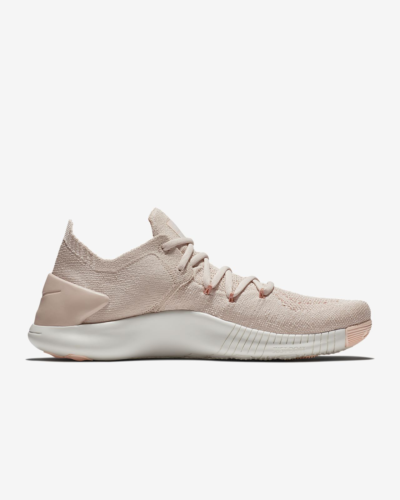 Nike Performance FLEX ESSENTIAL TR - Sports shoes - particle beige/particle beige/guava ice