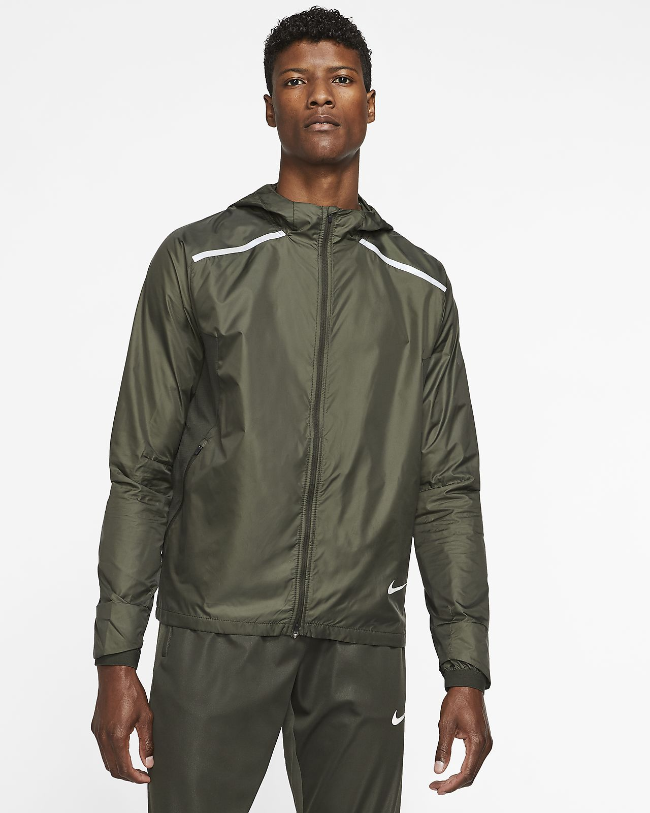 Chamarra de running con capucha para hombre Nike Repel
