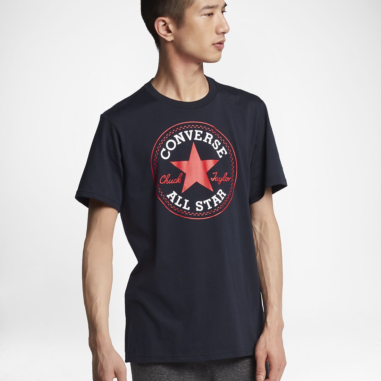 Converse Chuck Patch Men's T-Shirts Blue