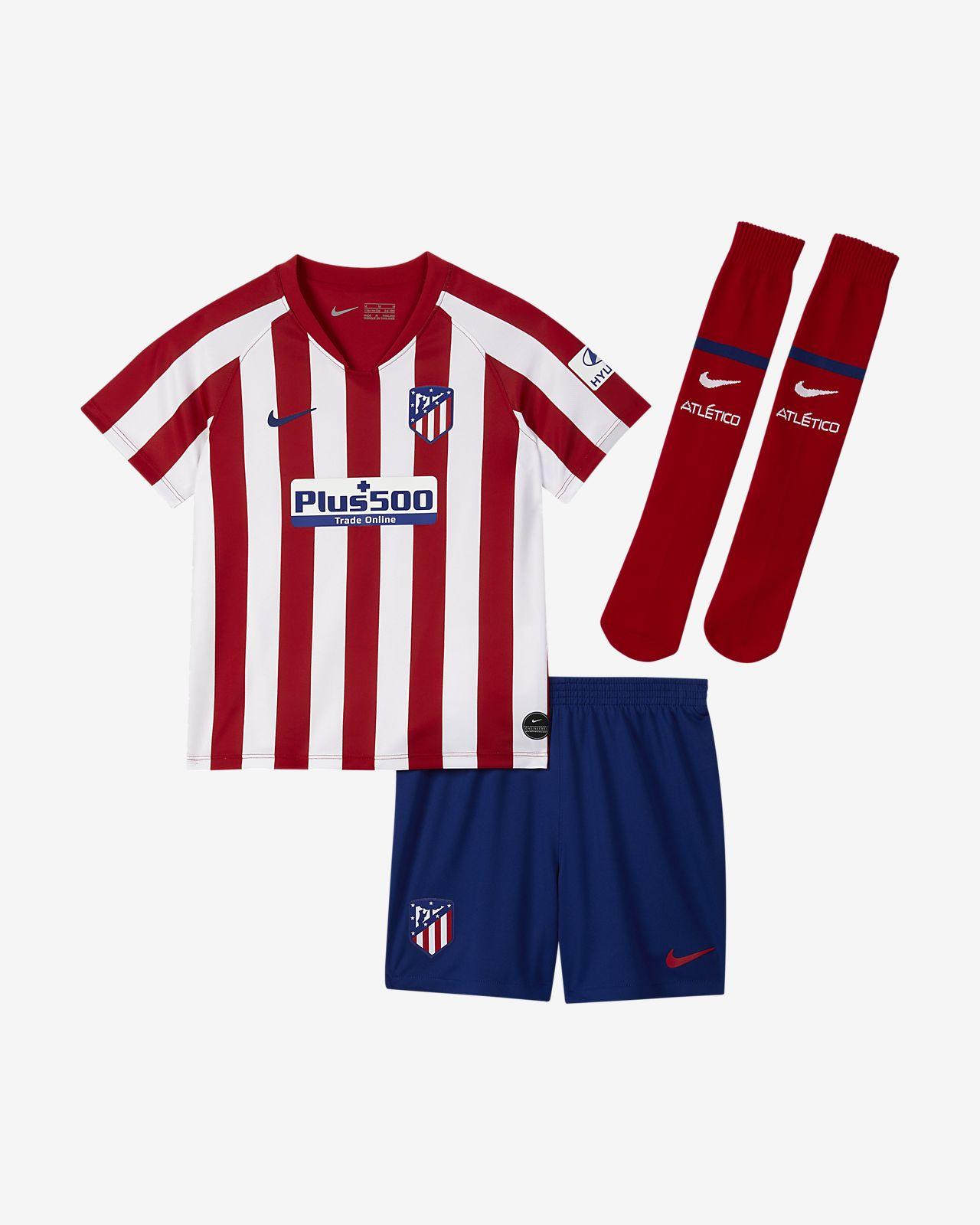 Kit de fútbol de local para niños talla pequeña del Atlético de Madrid 2019/20