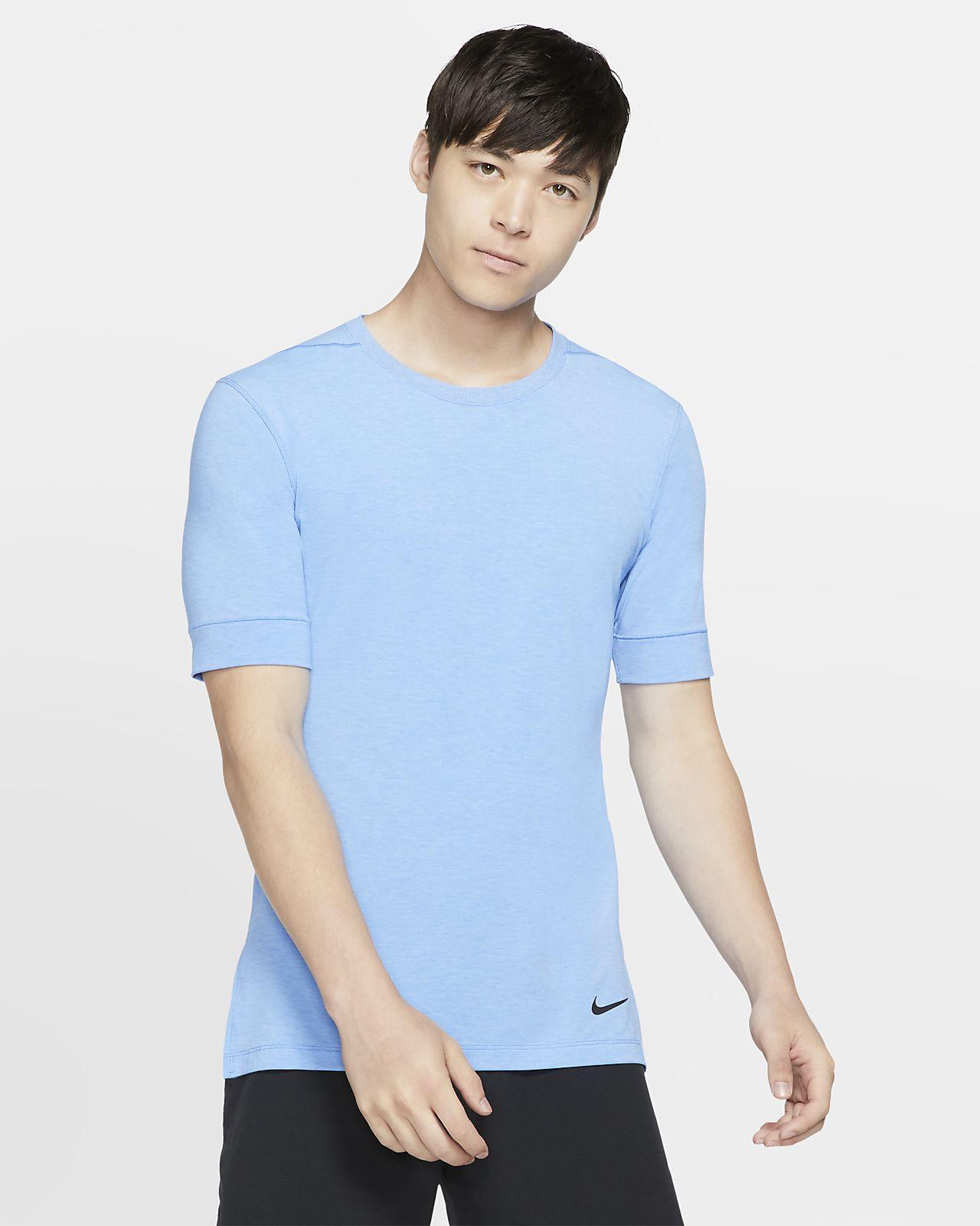 Camisola de ioga de manga curta Nike Dri-FIT para homem