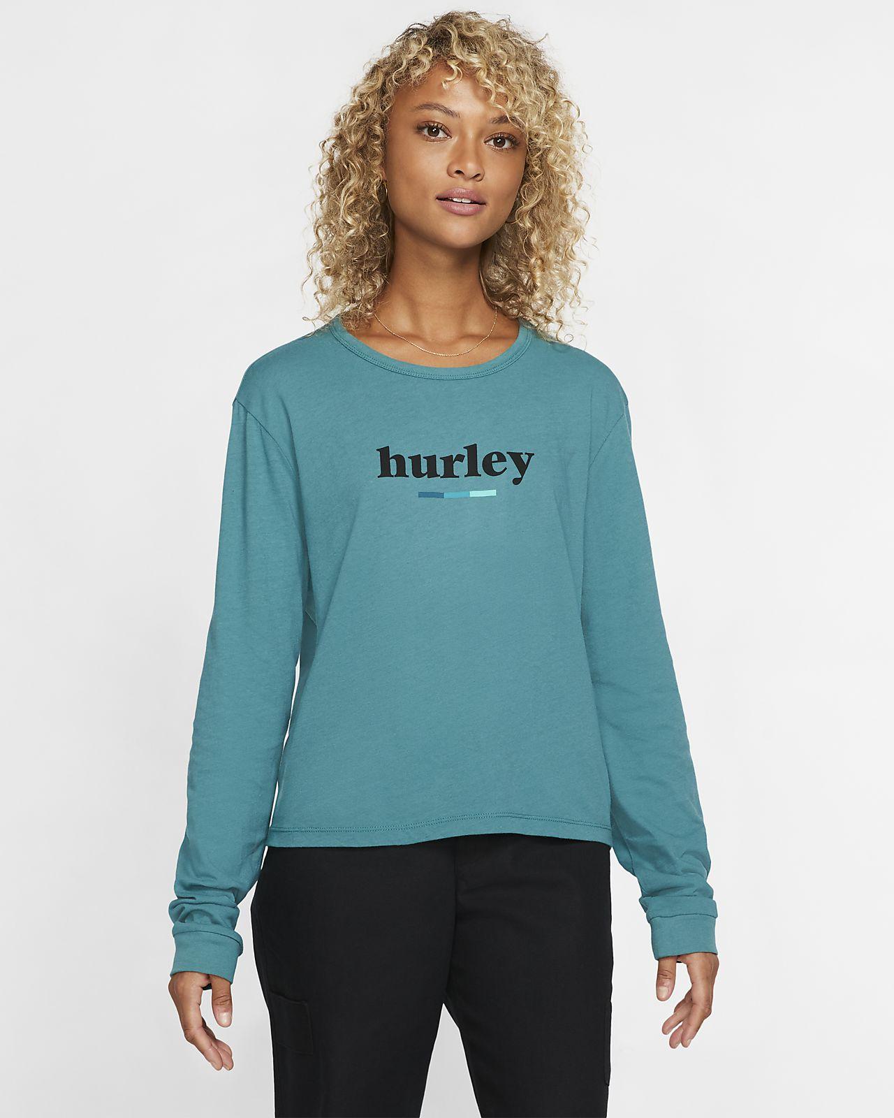 Hurley Pompel Perfect Langarm-T-Shirt für Damen