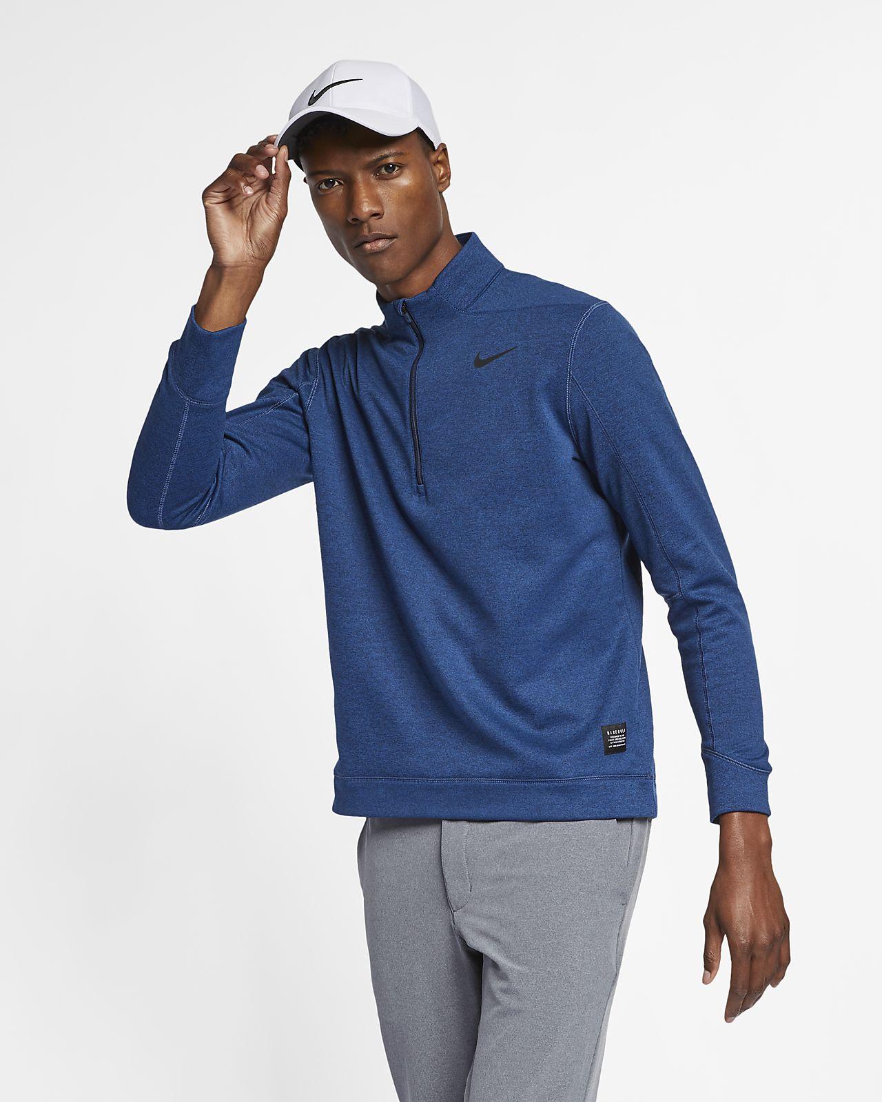 Camisola de golfe com fecho até meio Nike Therma Repel para homem