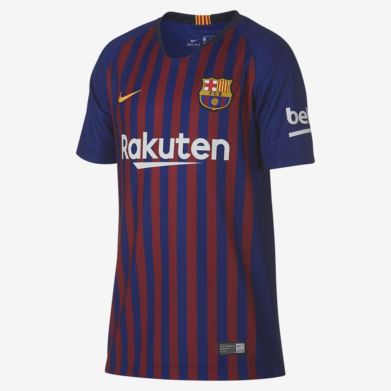 เสื้อแข่งฟุตบอลเด็กโต FC Barcelona Stadium Home ปี 2018/19