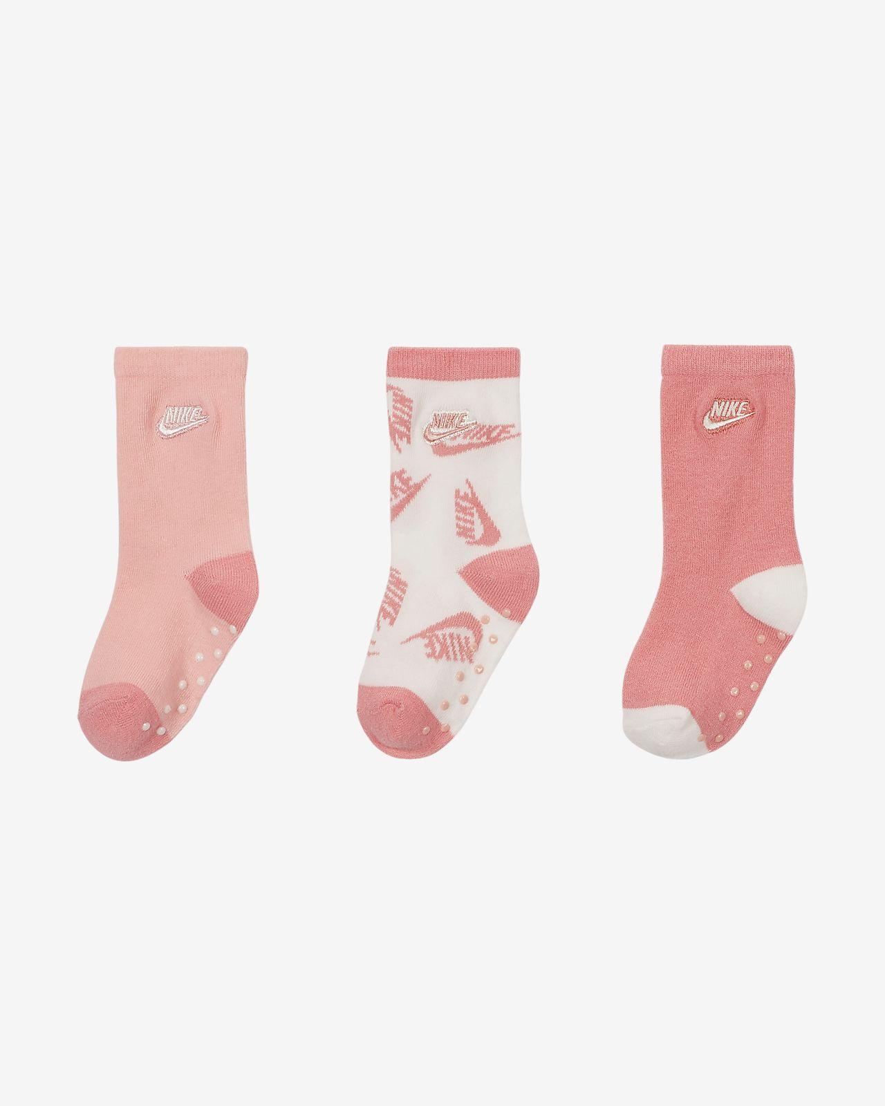 Nike Toddler Gripper Crew Socks (3-Pack)