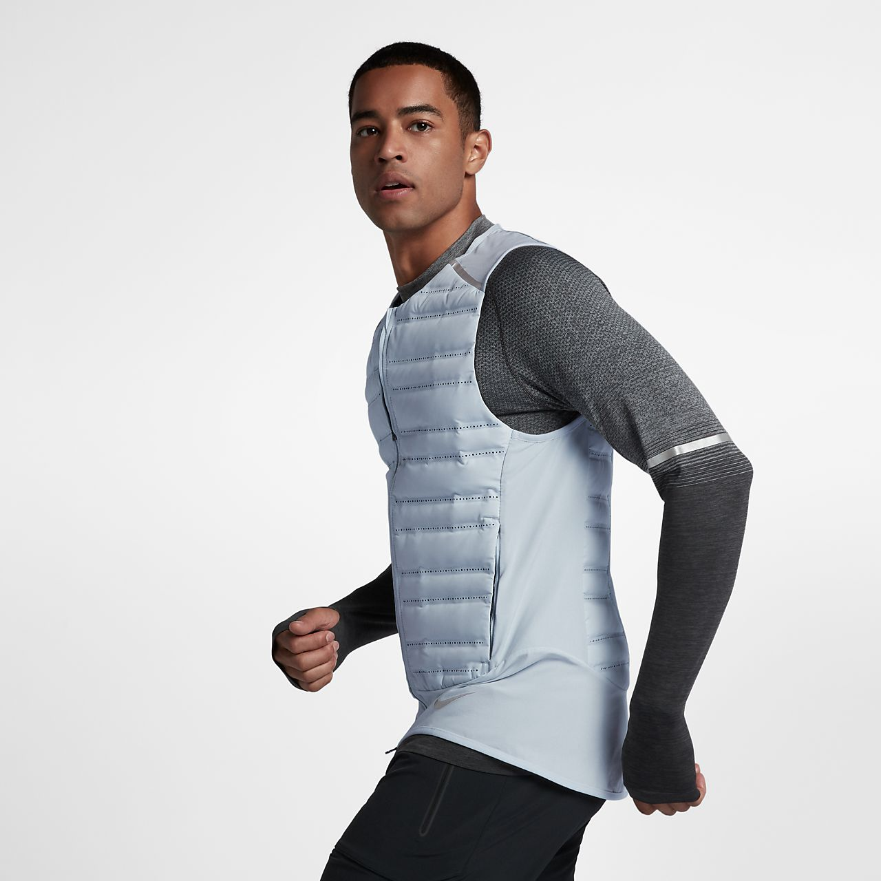 chaleco running nike hombre