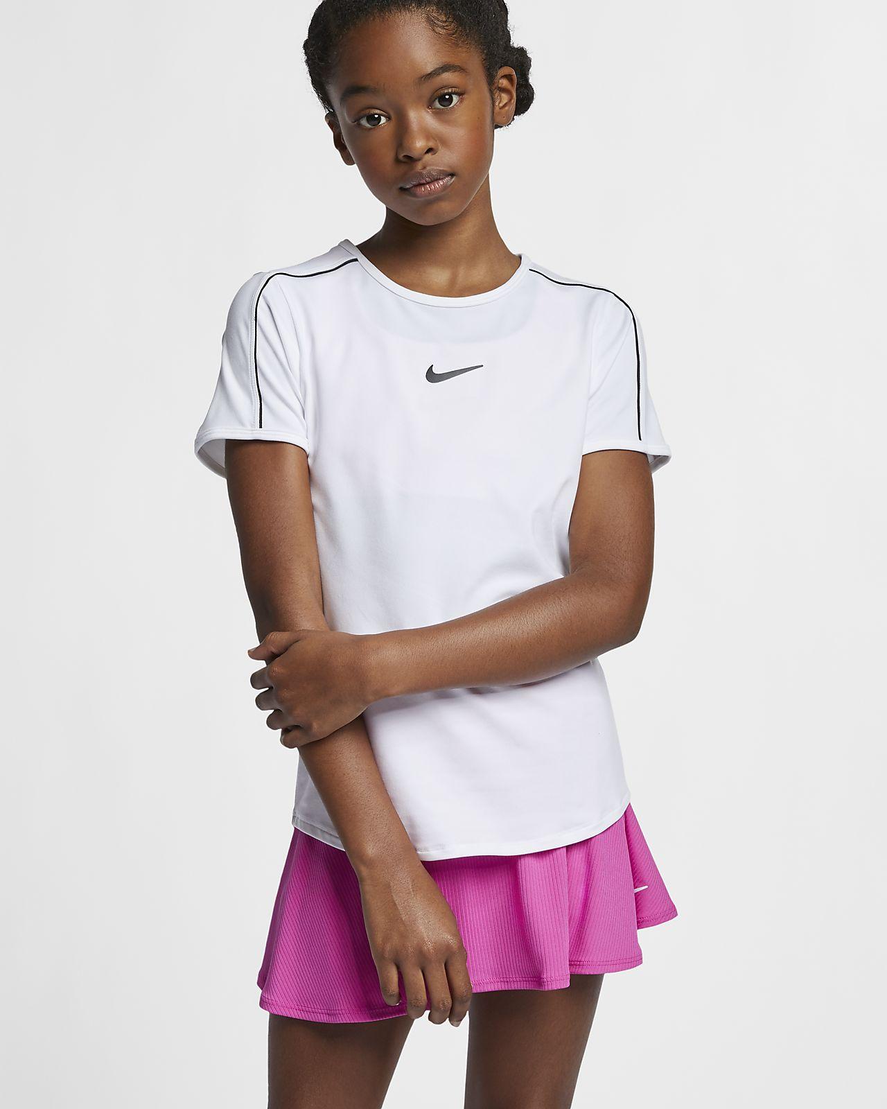 Μπλούζα τένις NikeCourt Dri-FIT για μεγάλα κορίτσια