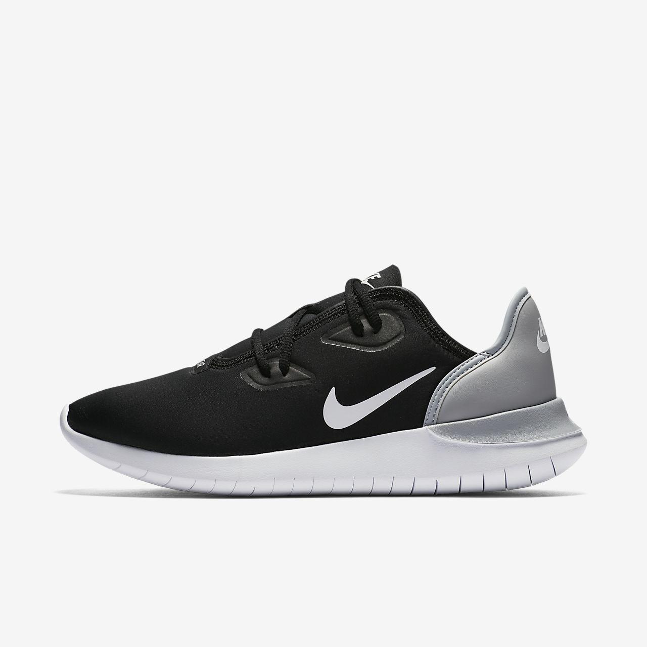 Nike Womens hakata Low Top Lace Up Running Sneaker Black white Size 7.5