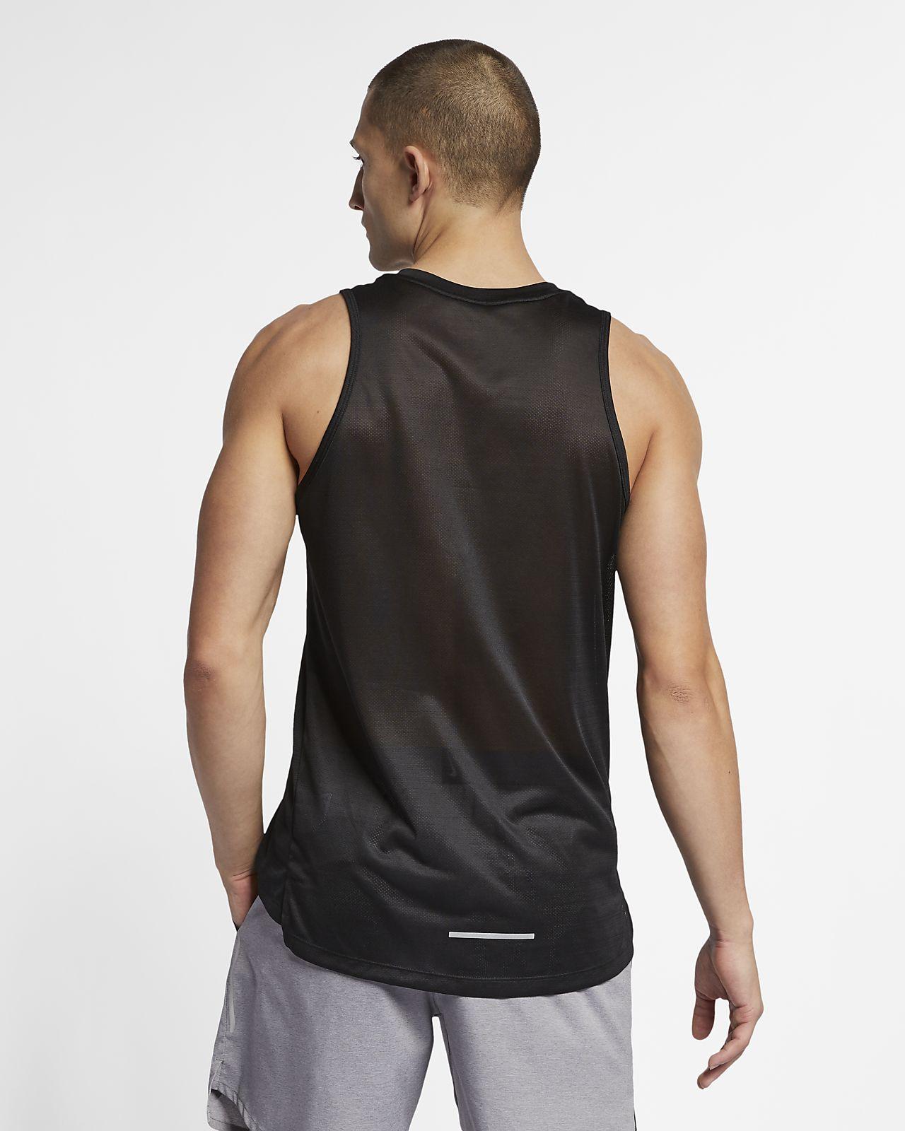 reputable site 23921 160b3 ... Nike Dri-FIT Miler Men s Running Tank
