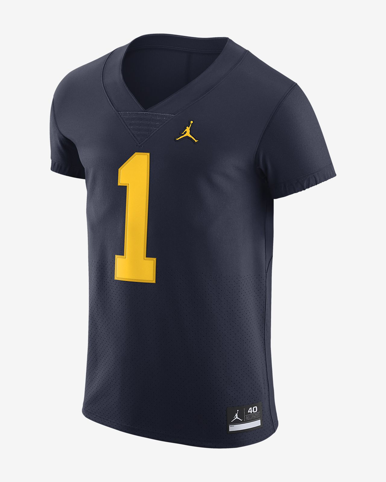 9df5e56bf640df Jordan College Elite (Michigan) Men s Football Jersey . Nike.com